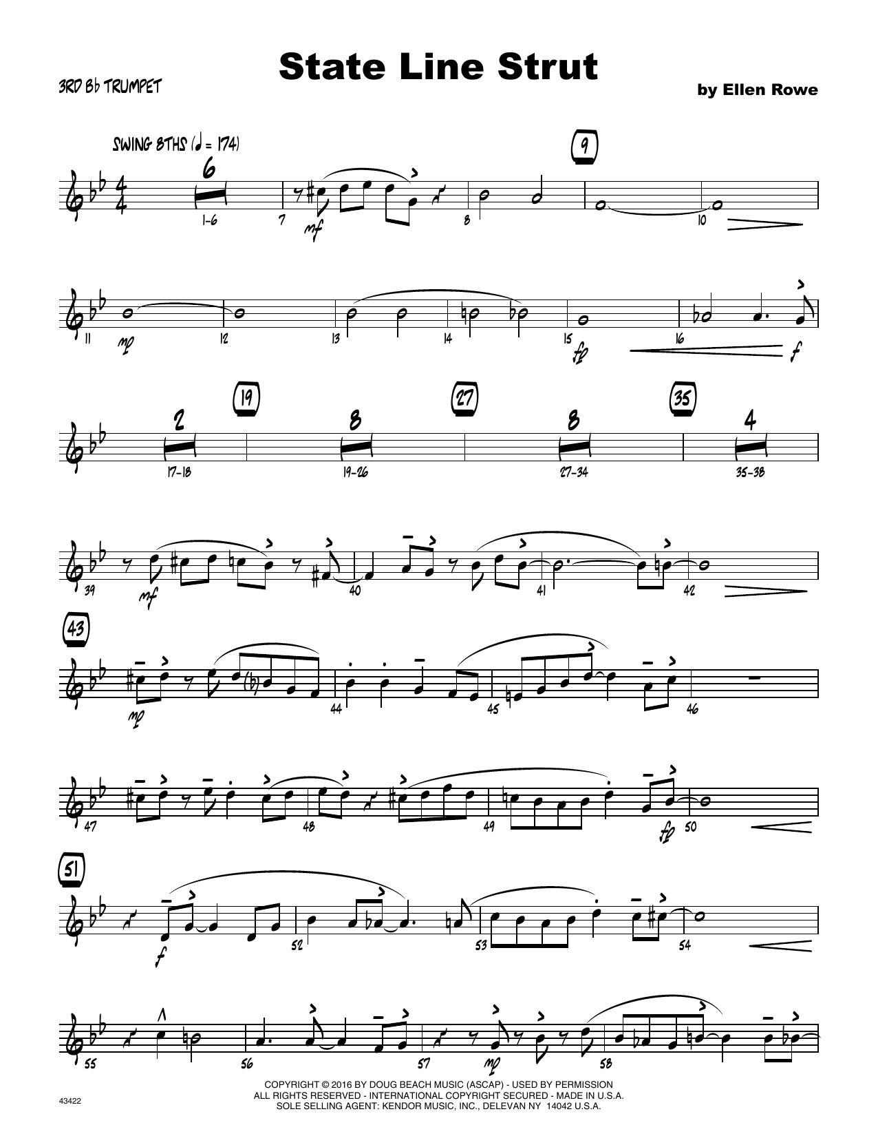 State Line Strut - 3rd Bb Trumpet Sheet Music