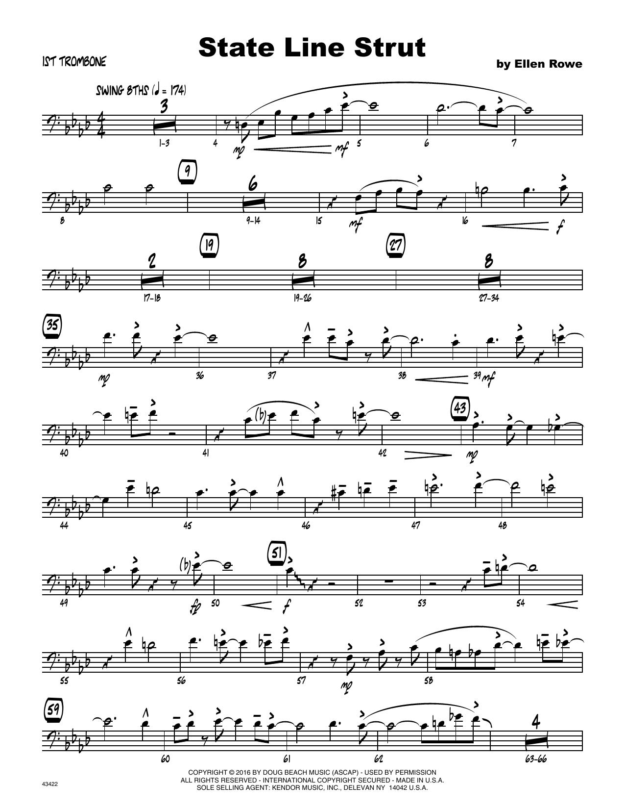 State Line Strut - 1st Trombone Sheet Music