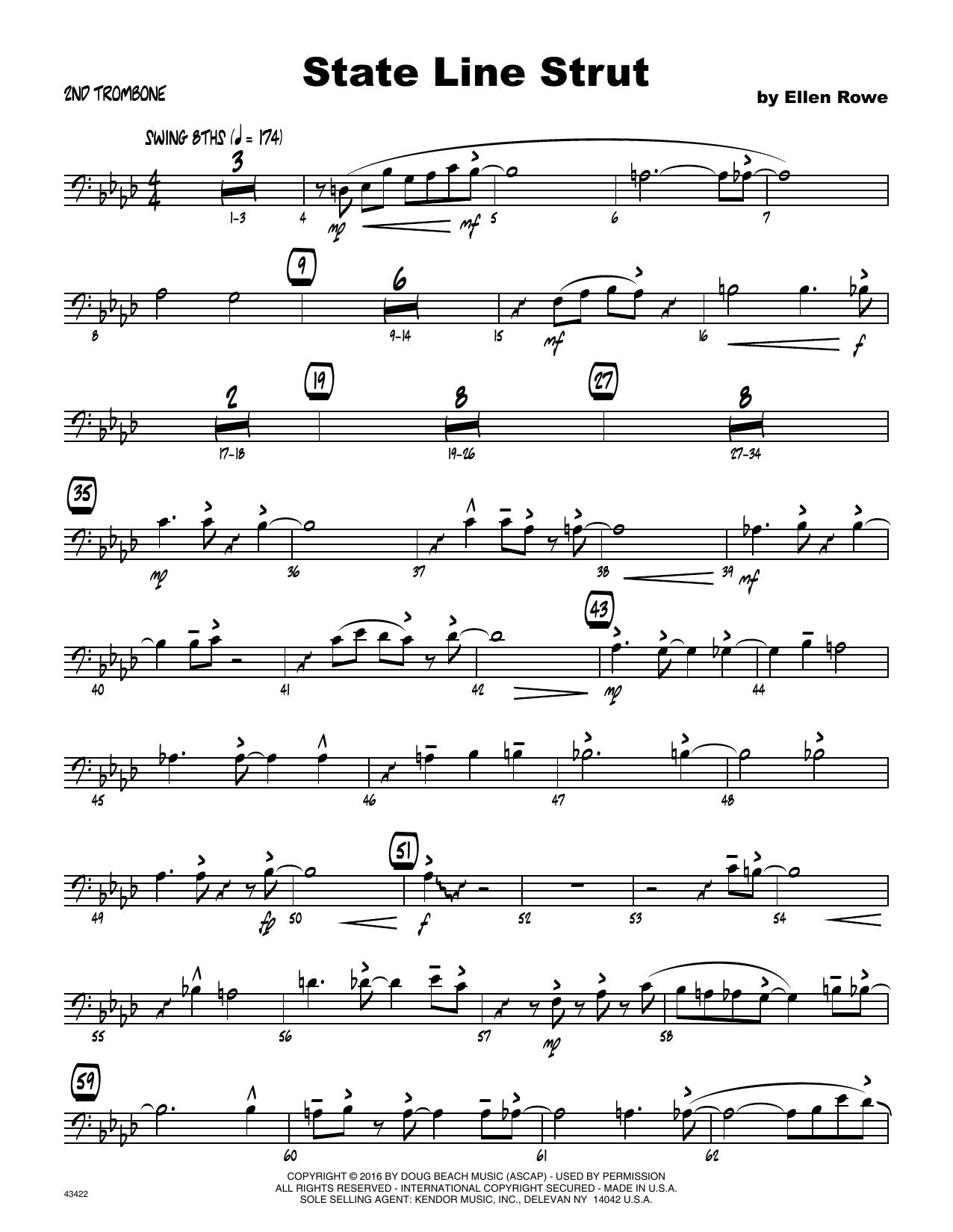 State Line Strut - 2nd Trombone Sheet Music