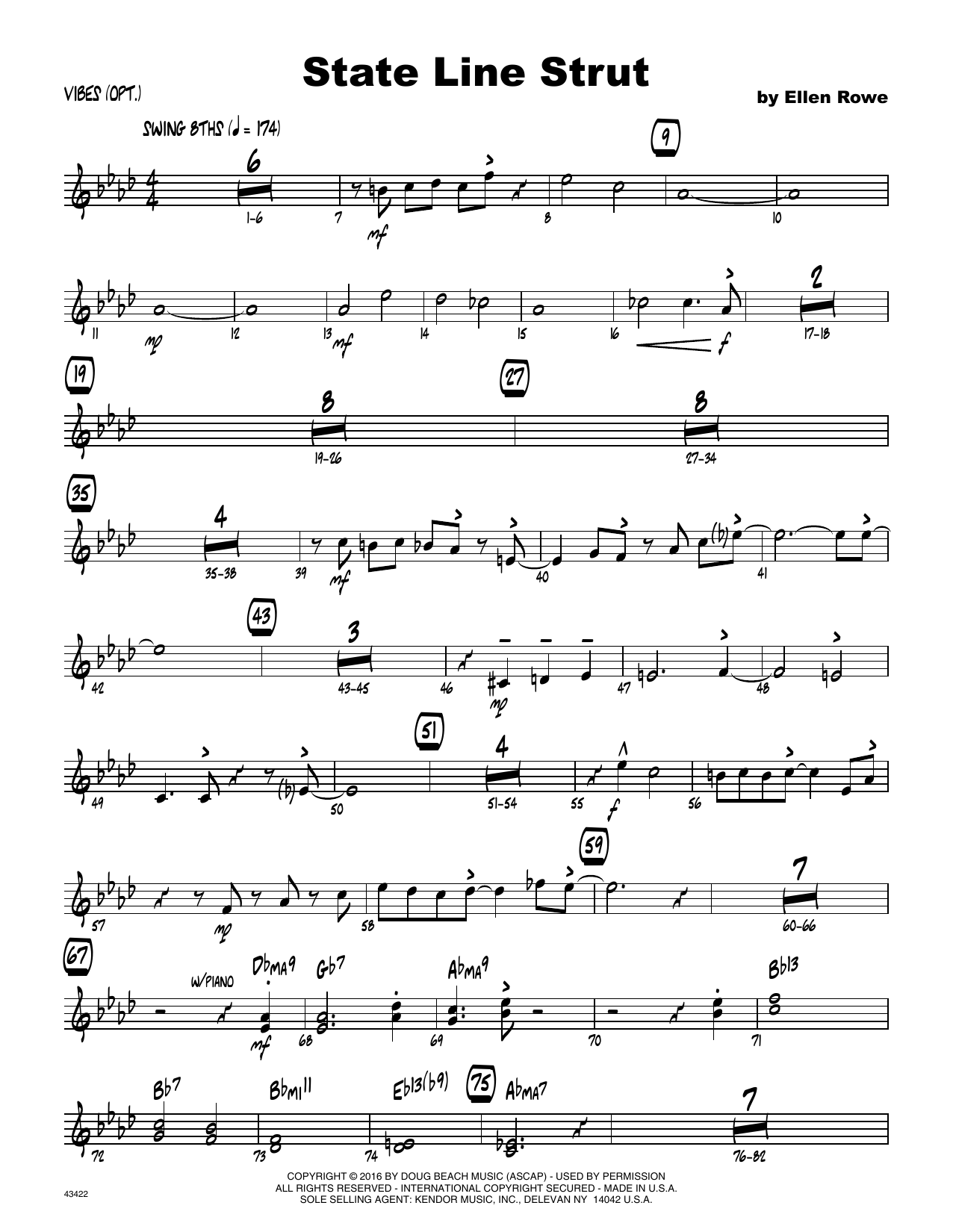 State Line Strut - Vibes Sheet Music
