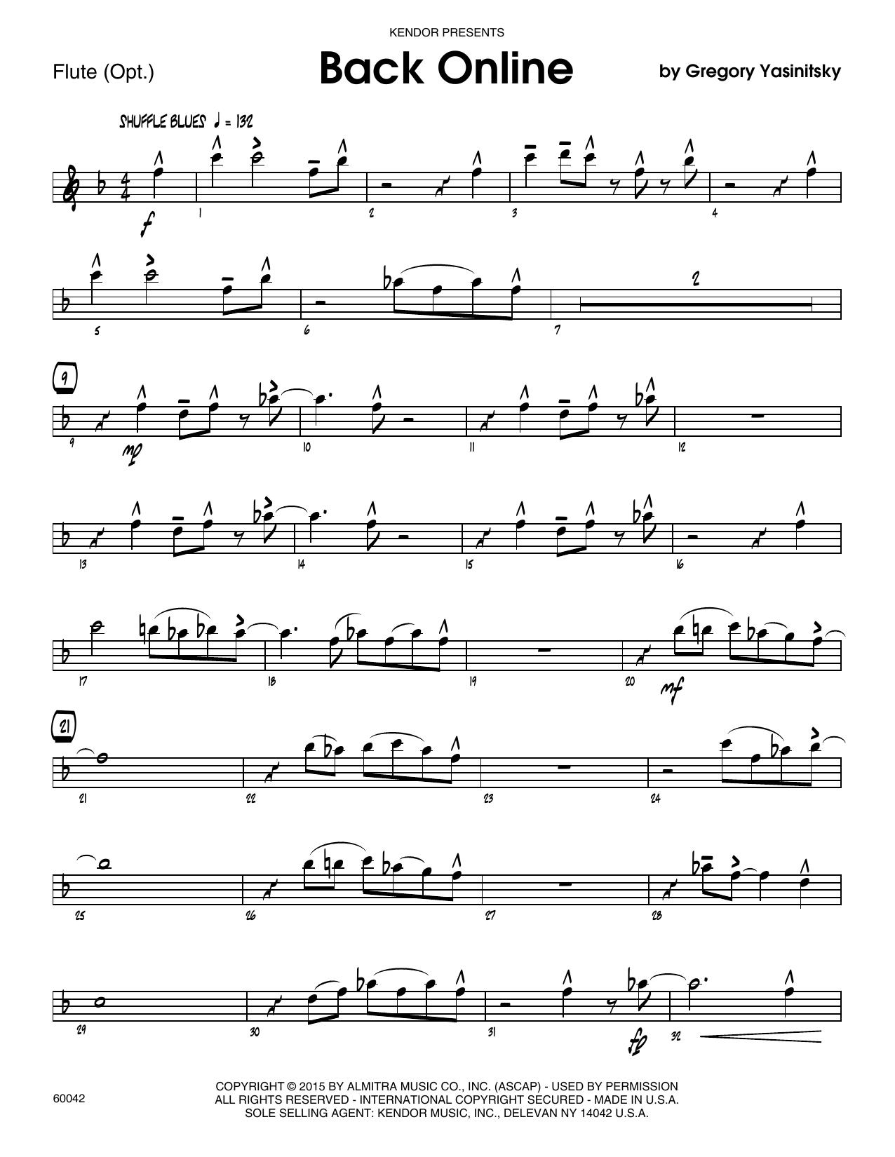 Back Online - Flute Sheet Music