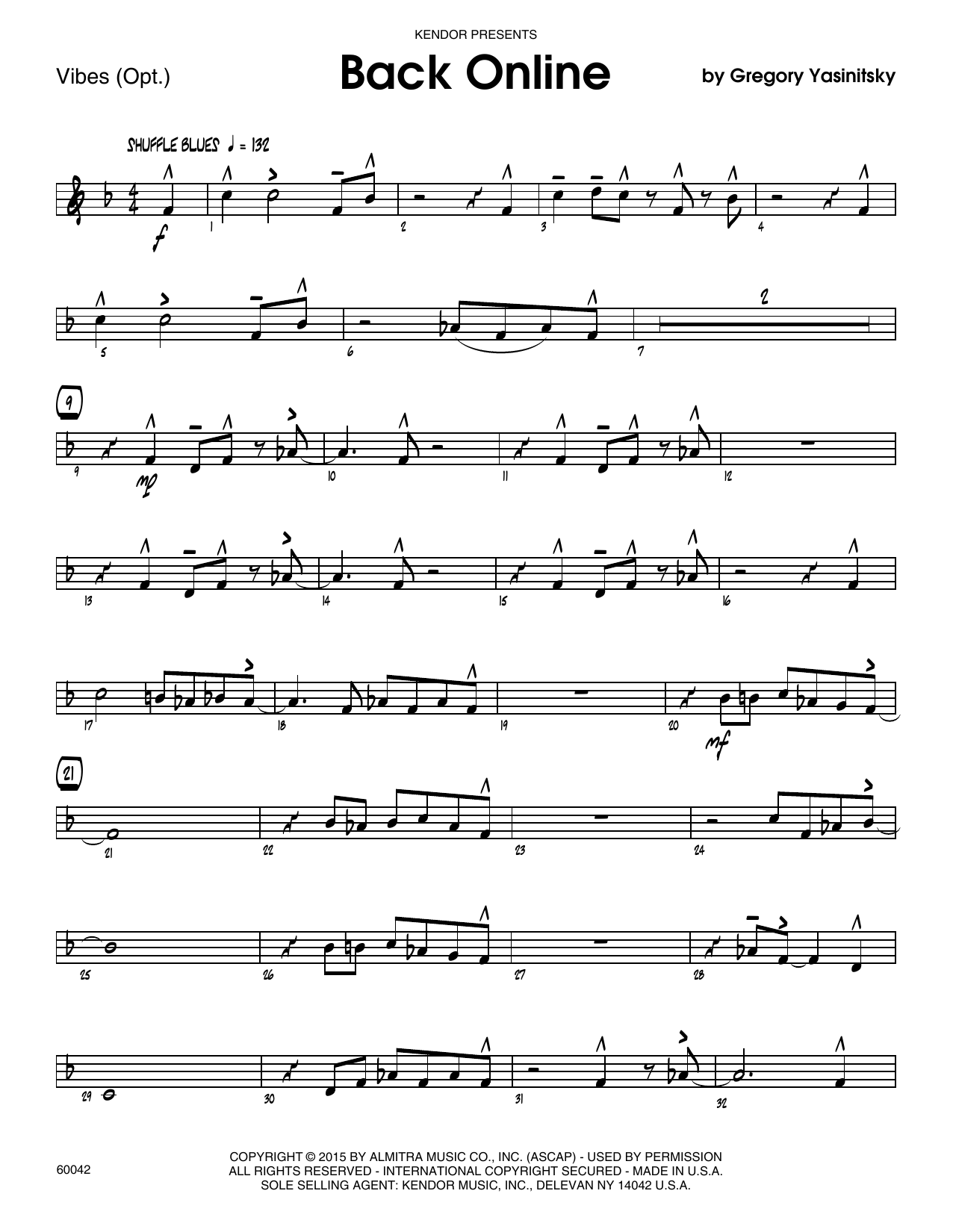 Back Online - Vibes Sheet Music
