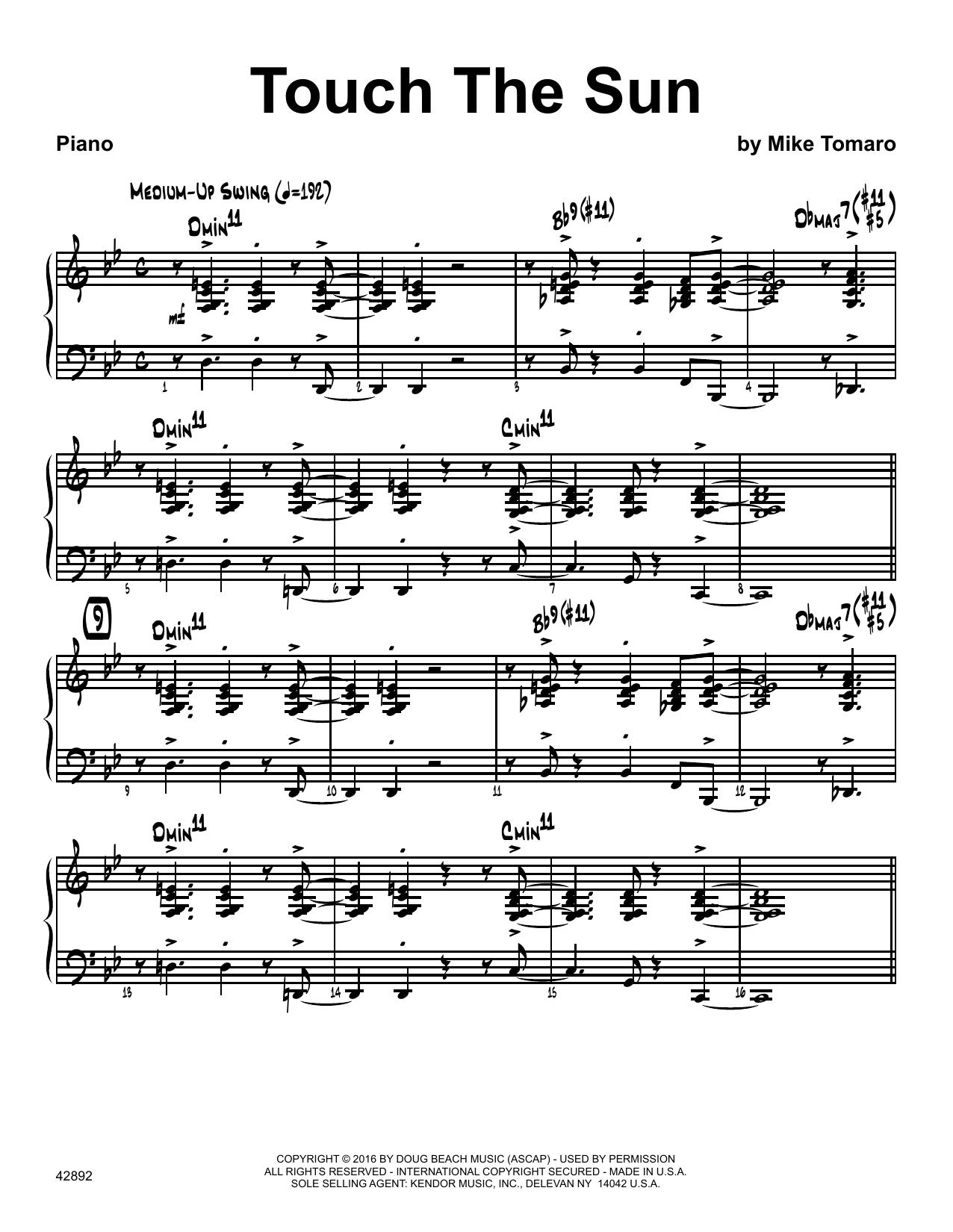 Touch The Sun - Piano Sheet Music