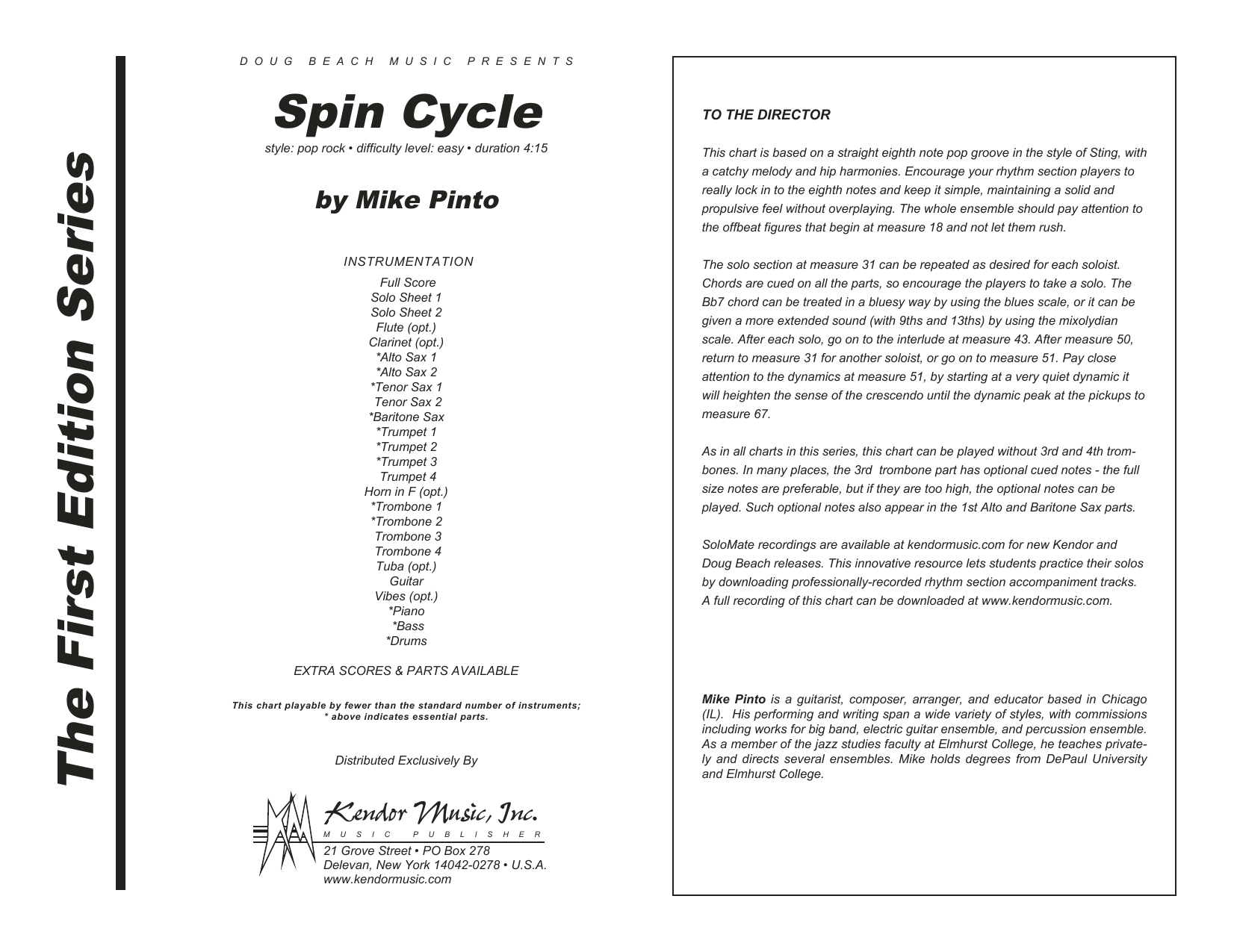 Spin Cycle - Full Score Sheet Music