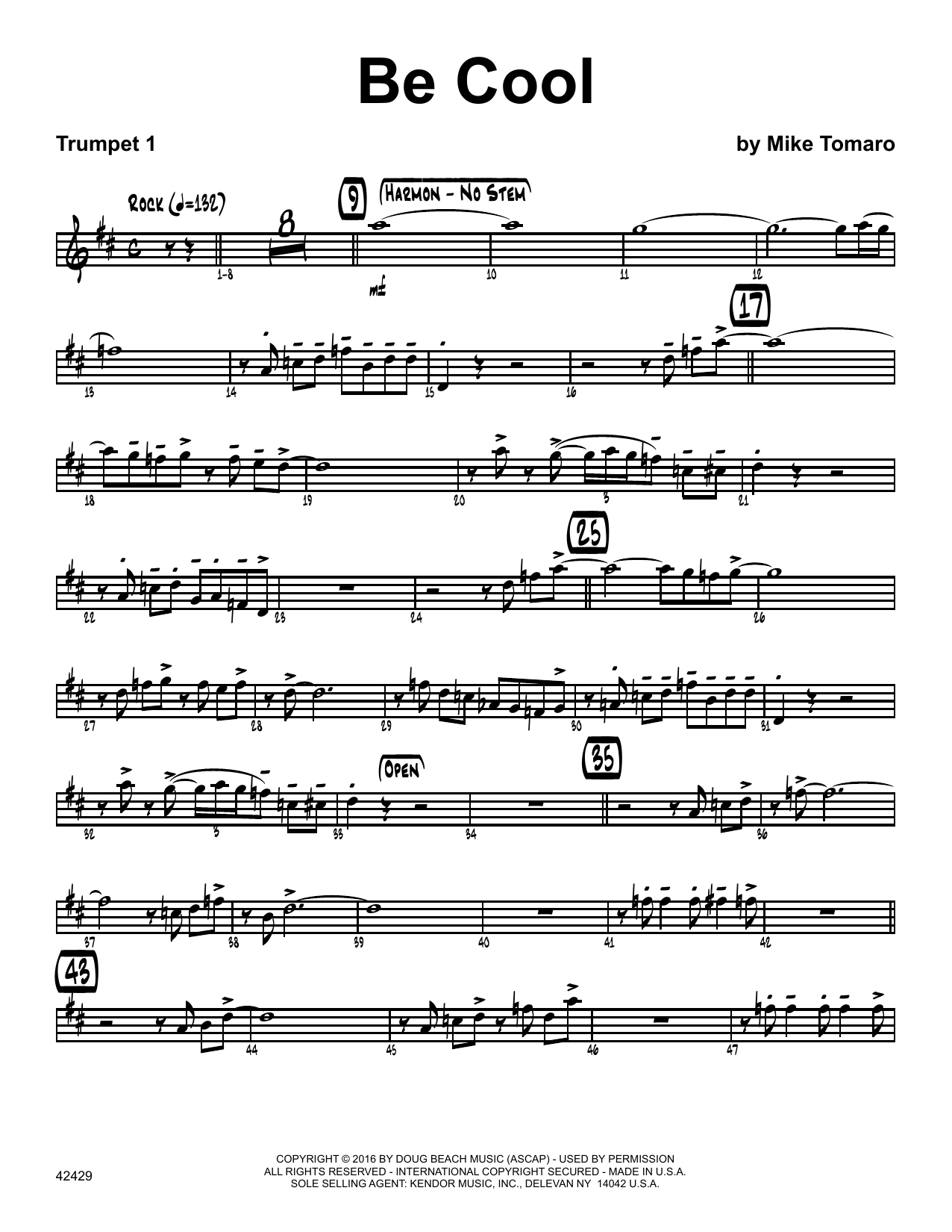 Be Cool - 1st Bb Trumpet Sheet Music