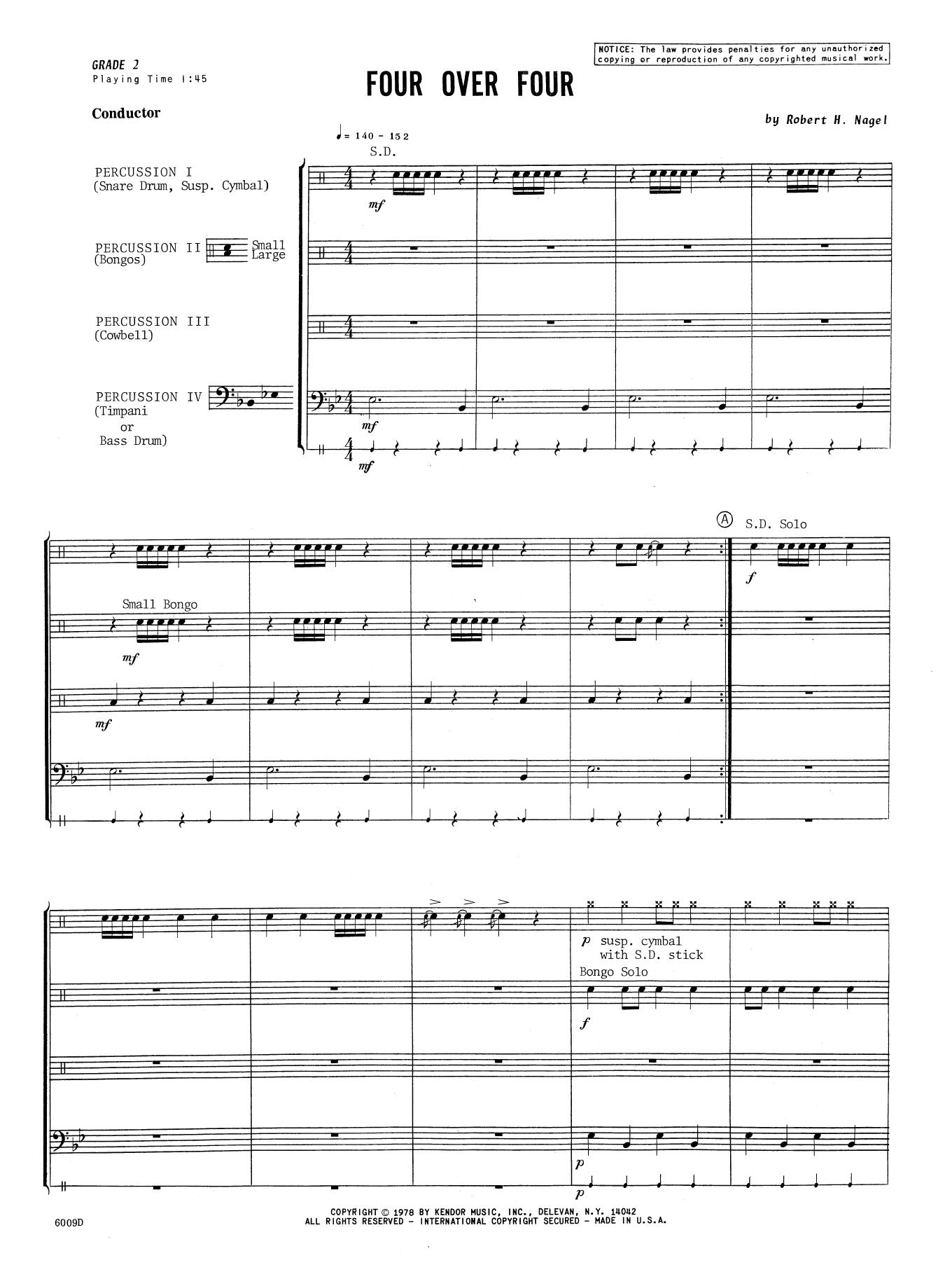 Four Over Four - Full Score Sheet Music
