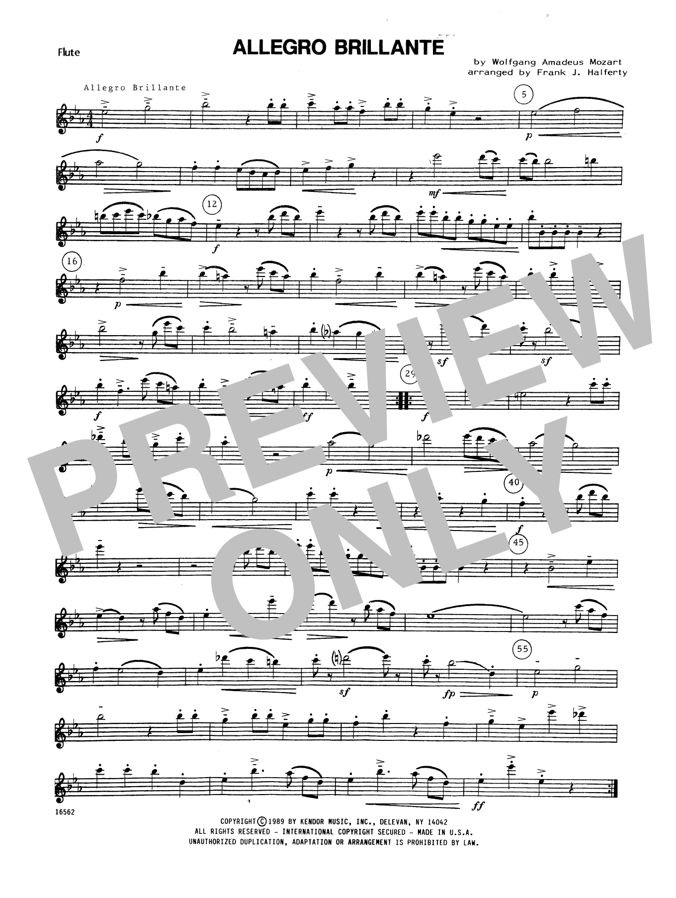 Allegro Brillante - Flute Sheet Music