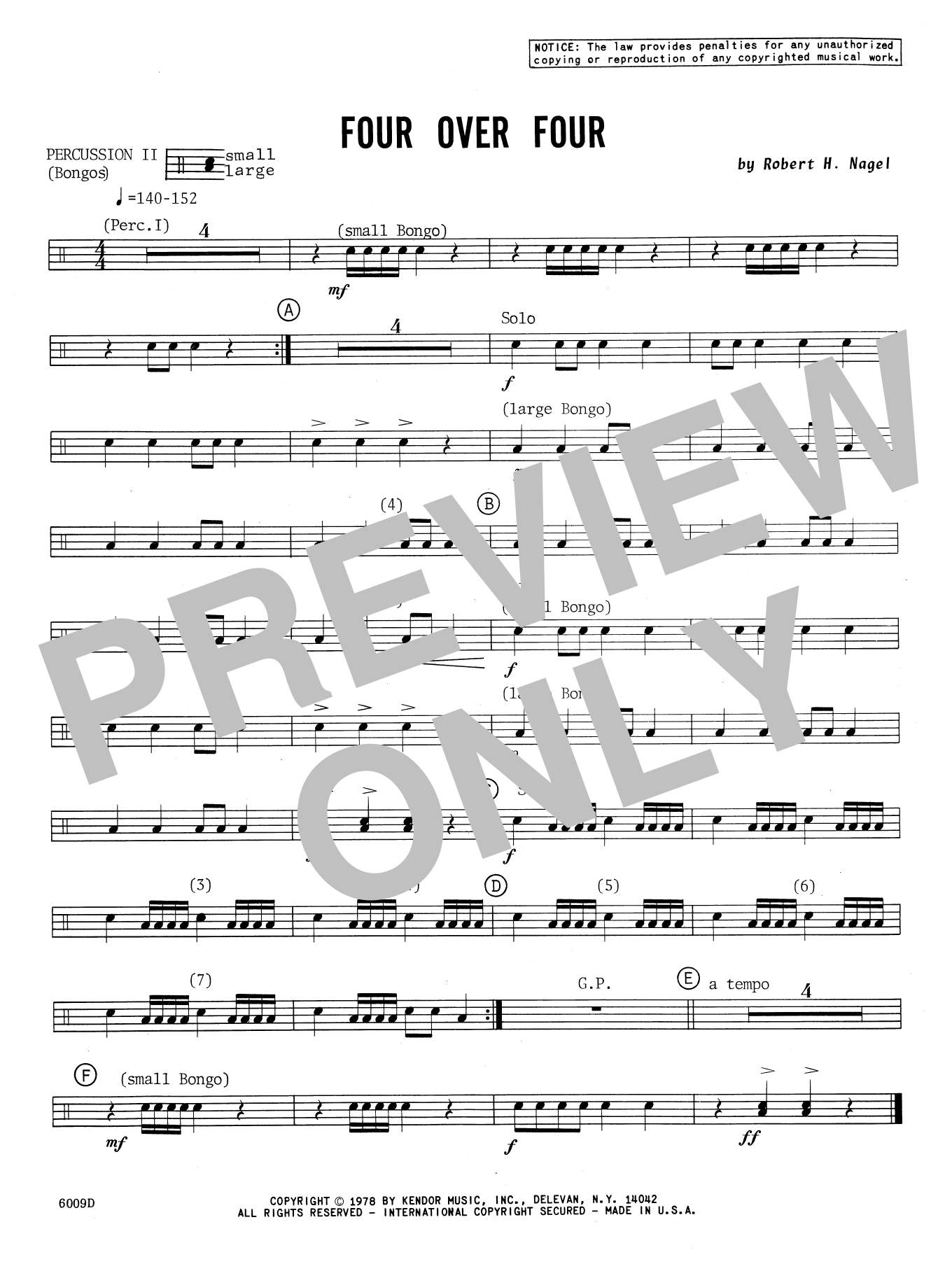 Four Over Four - Percussion 2 Sheet Music