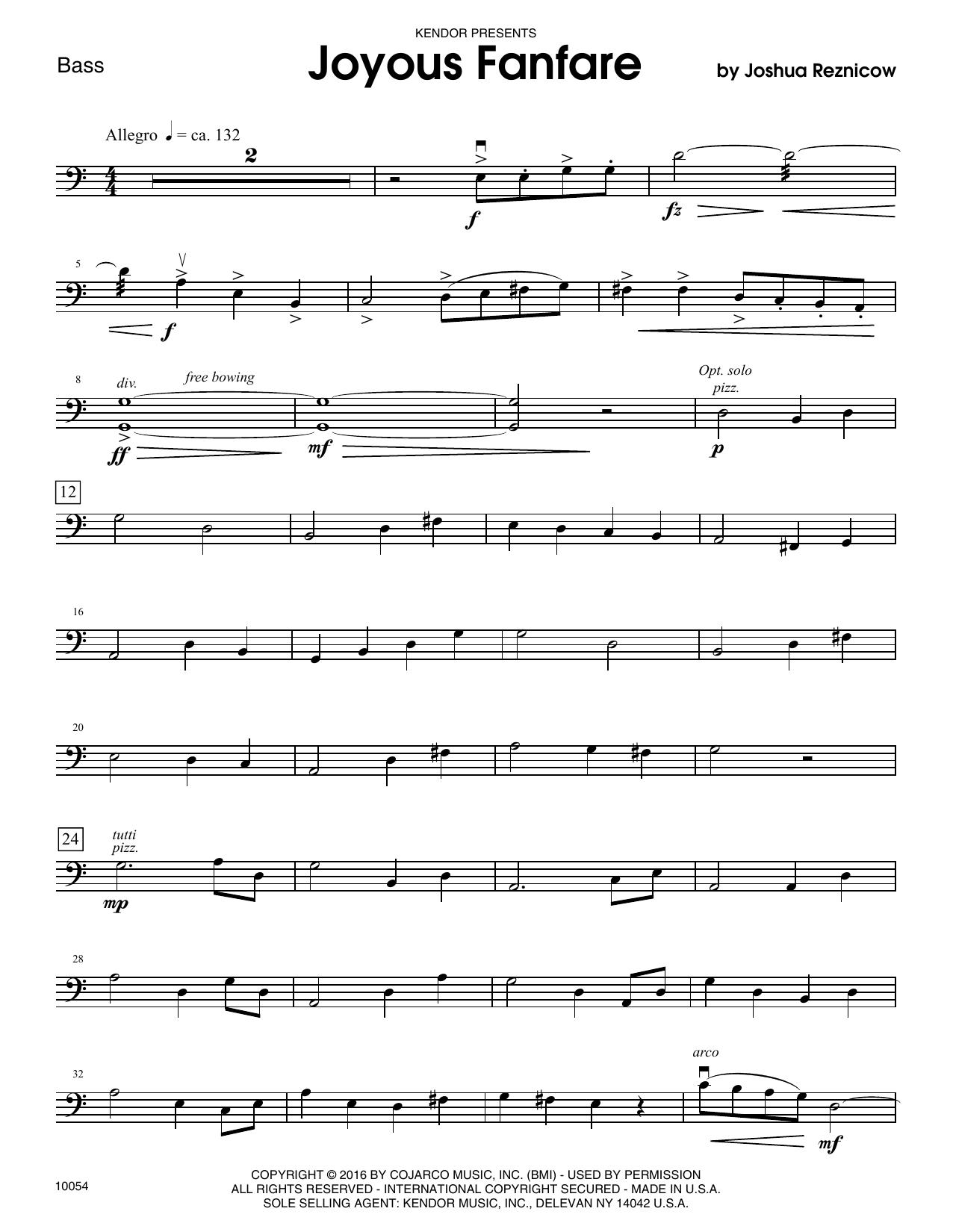 Joyous Fanfare - Bass Sheet Music