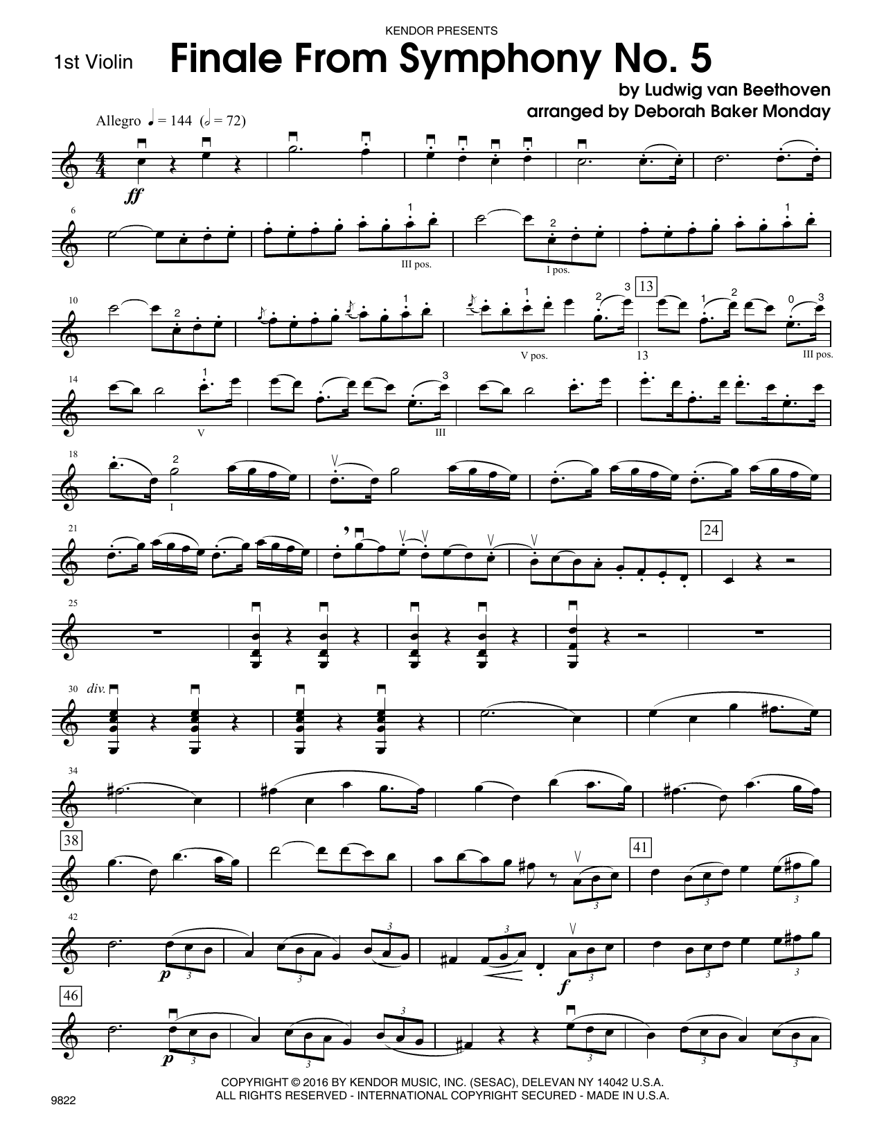 Finale from Symphony No. 5 - 1st Violin Sheet Music