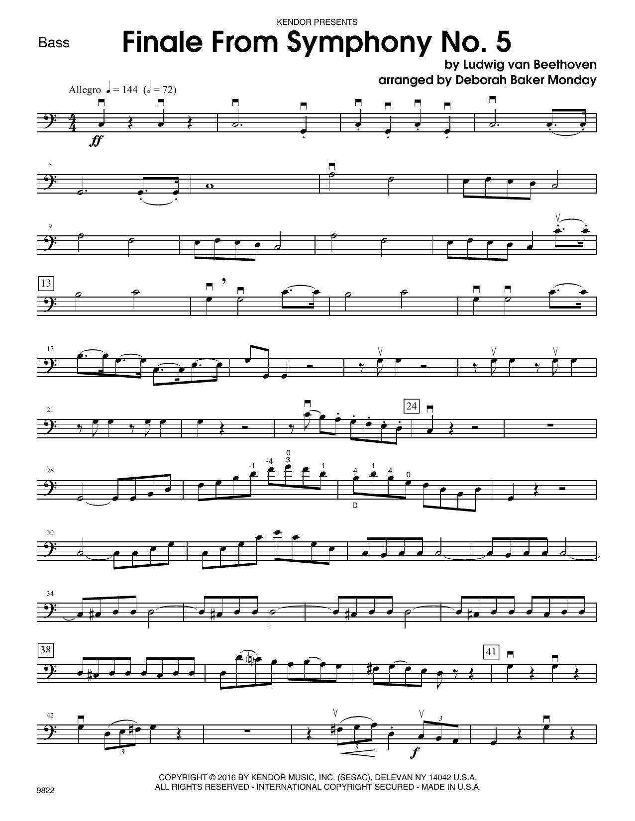 Finale from Symphony No. 5 - Bass Sheet Music