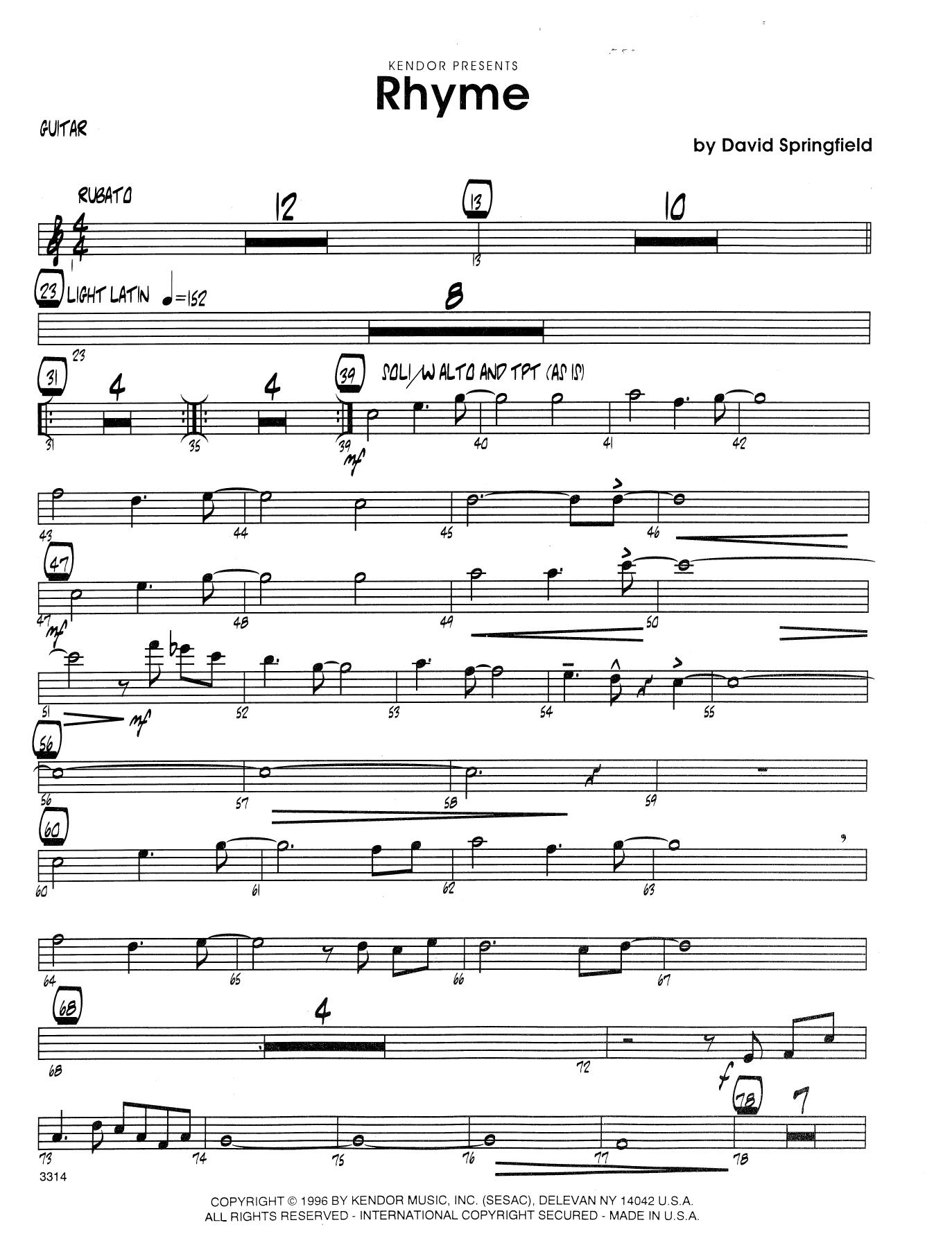 Rhyme - Guitar Sheet Music