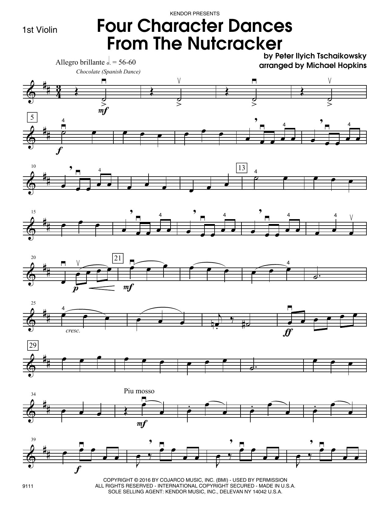 Four Character Dances From The Nutcracker - 1st Violin Sheet Music