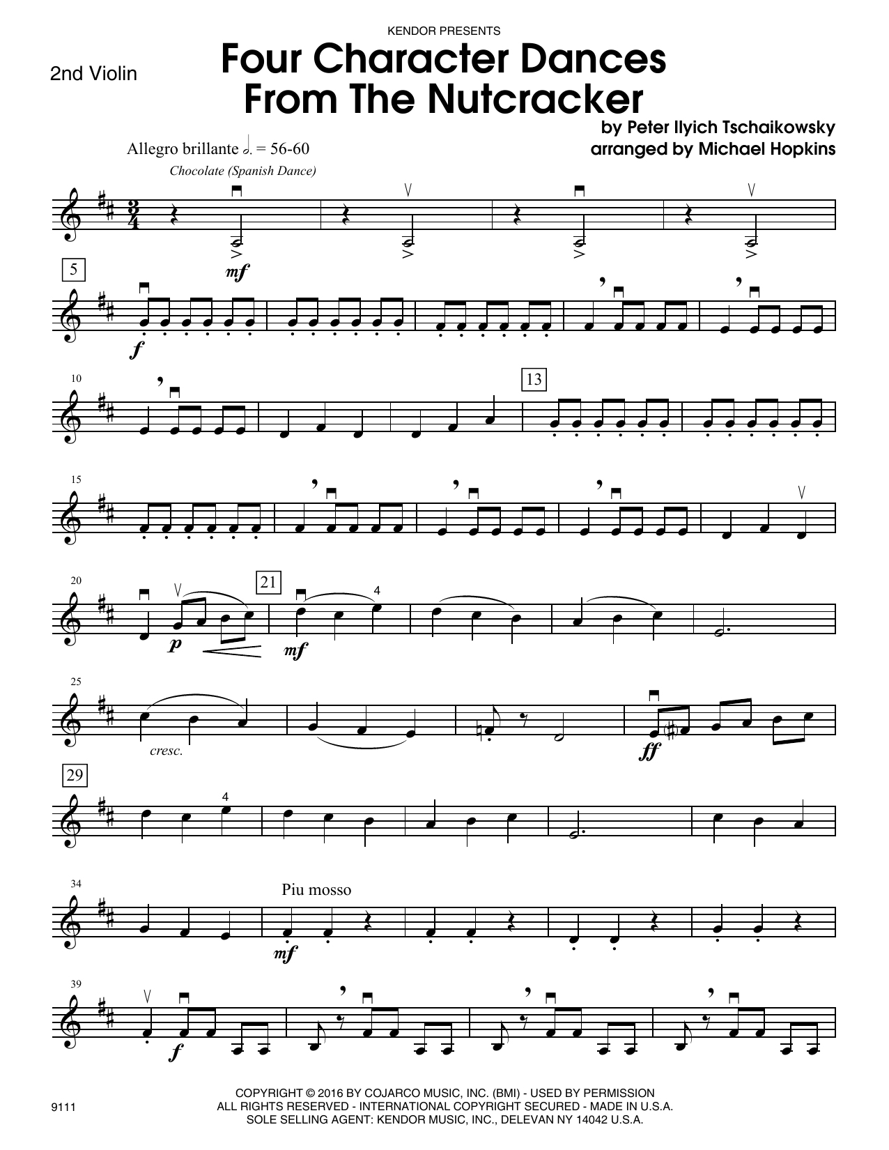 Four Character Dances From The Nutcracker - 2nd Violin Sheet Music