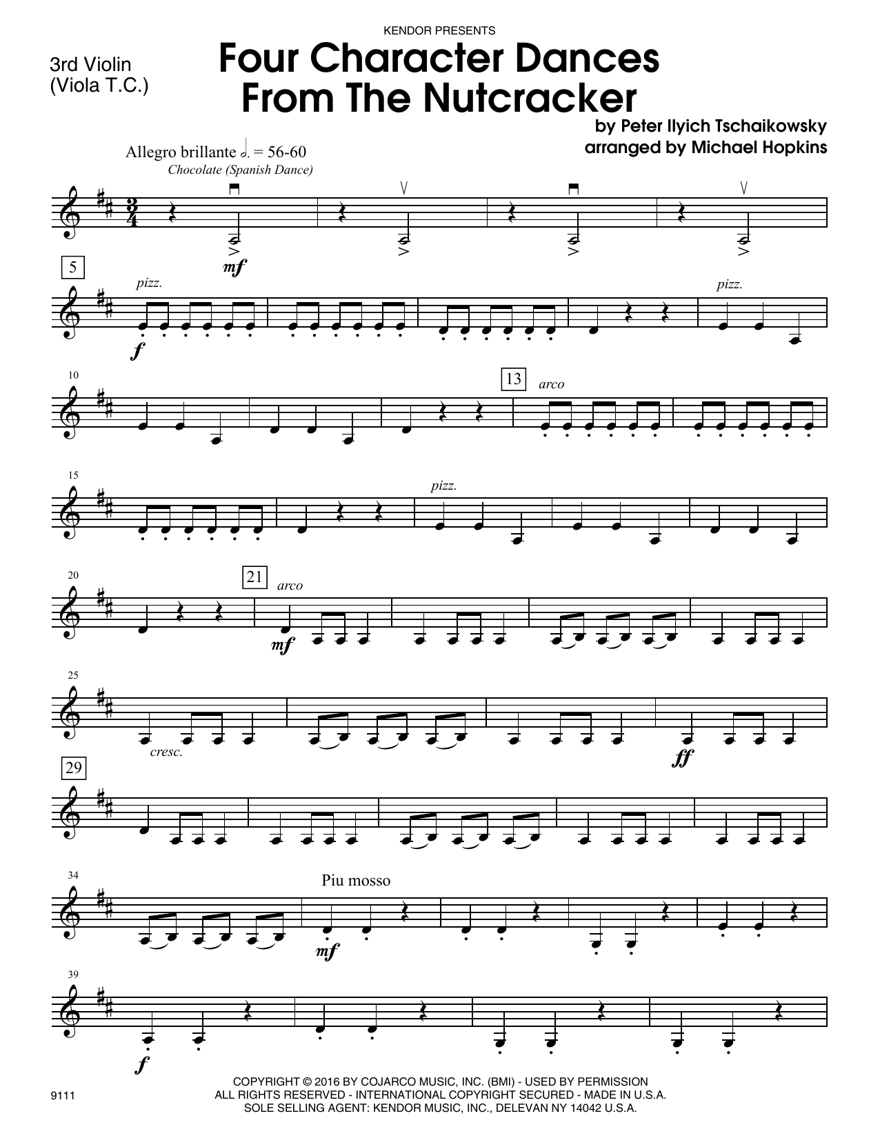 Four Character Dances From The Nutcracker - Violin 3 (Viola T.C.) Sheet Music
