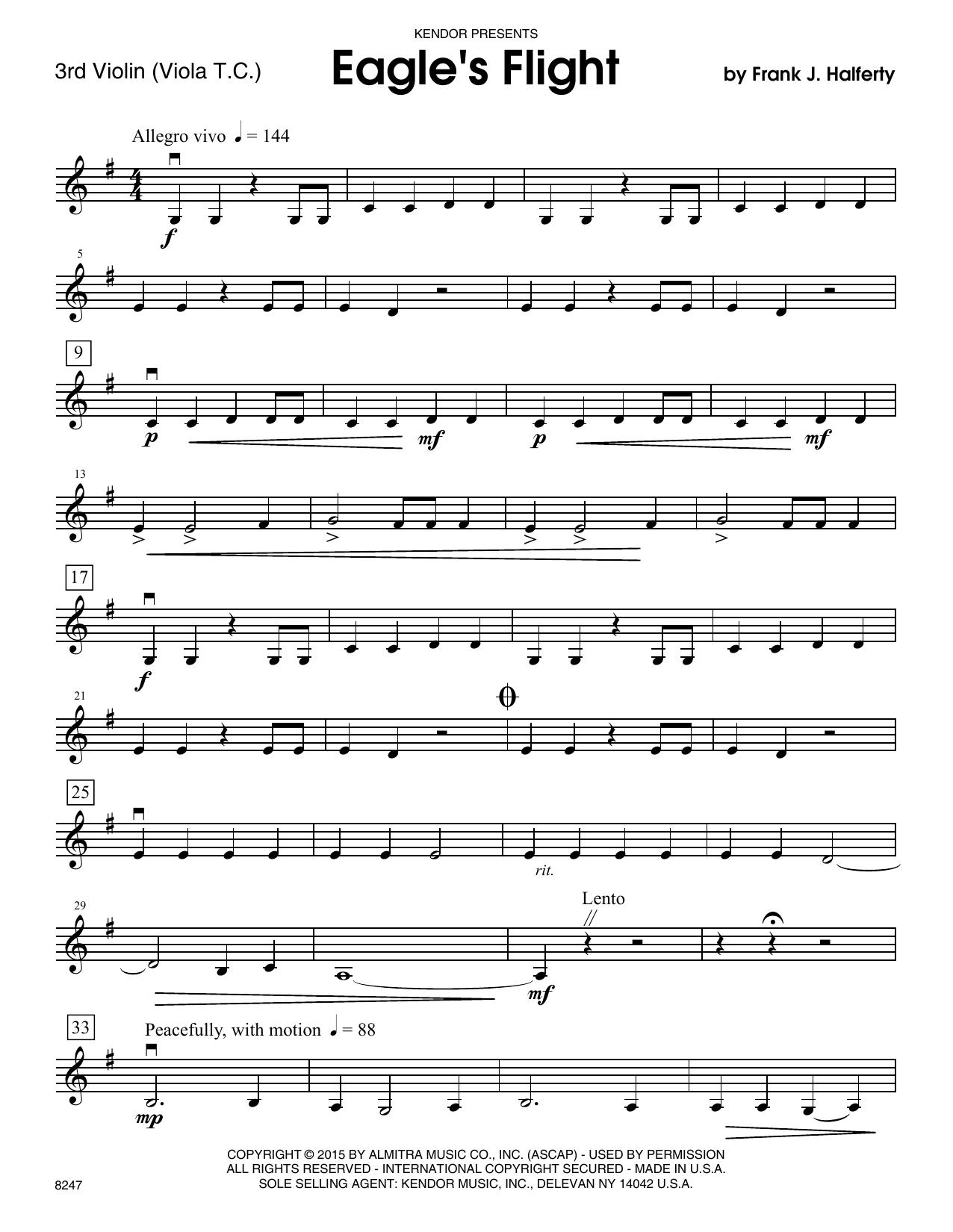 Eagle's Flight - Violin 3 (Viola T.C.) Sheet Music