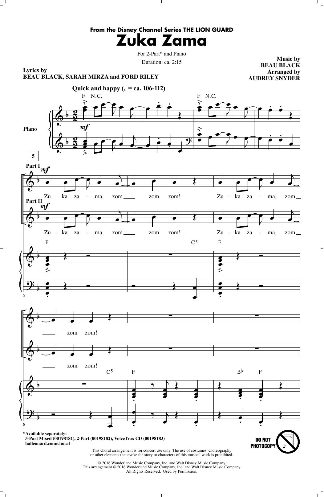 Zuka Zama Sheet Music
