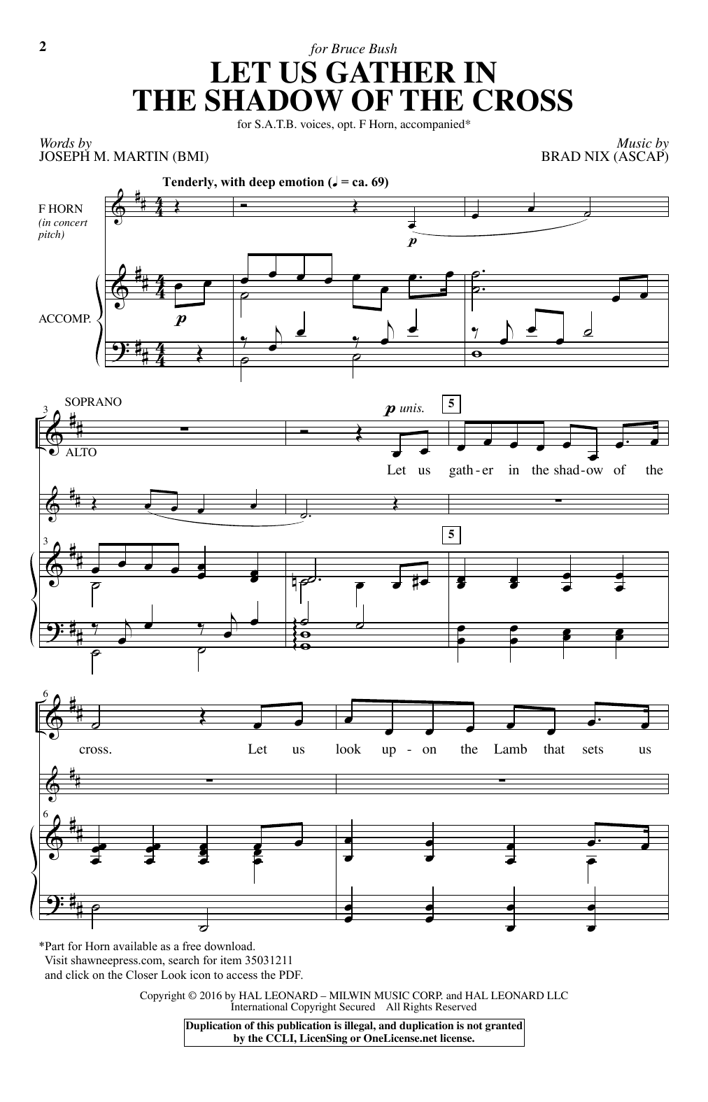 Let Us Gather In The Shadow Of The Cross (SATB Choir)