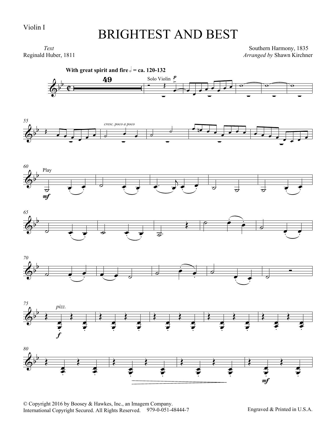 Brightest and Best - Violin (Choir Instrumental Pak)