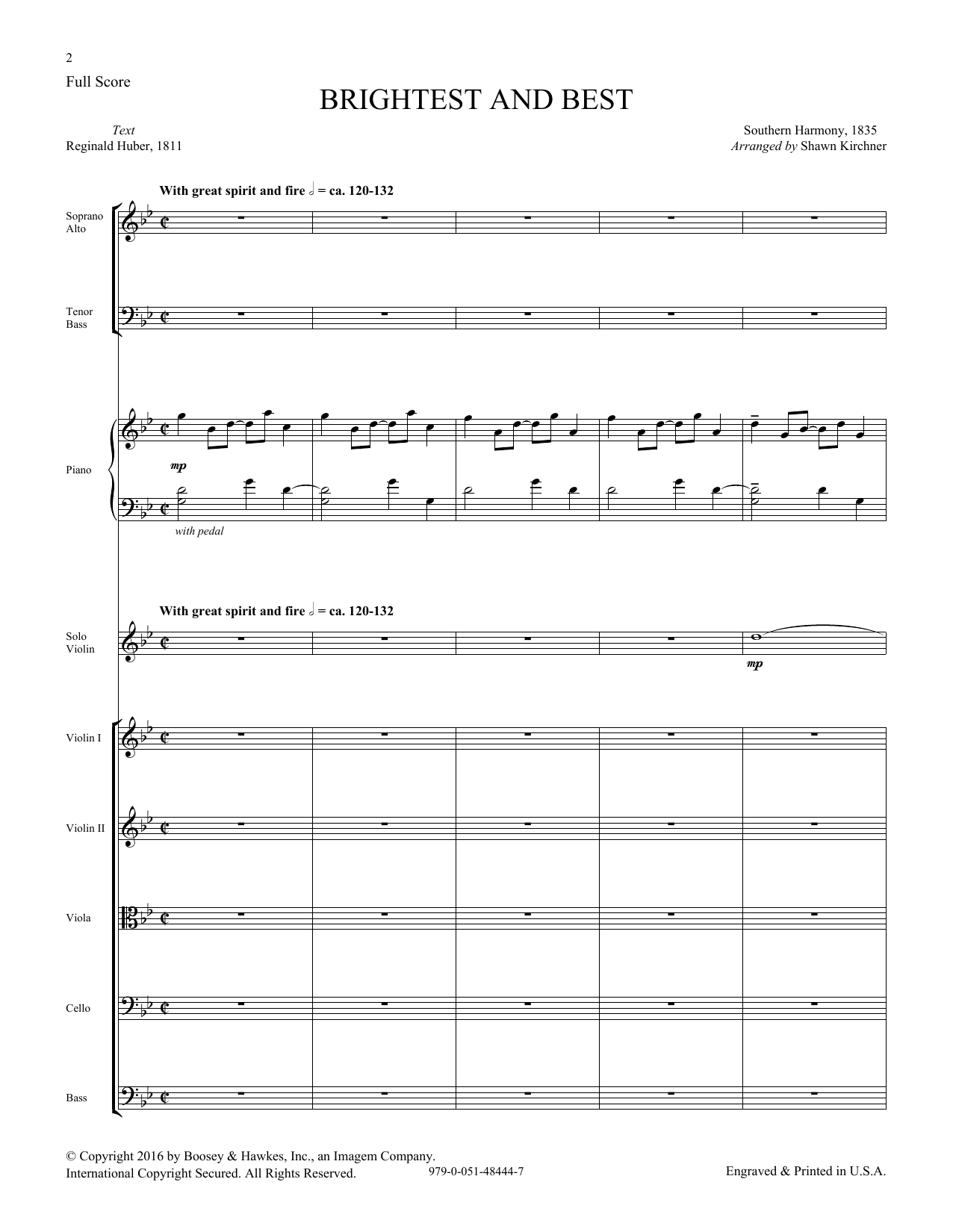 Brightest and Best - Score Sheet Music