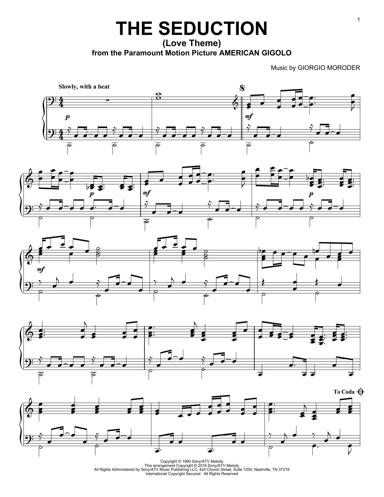 The Seduction (Love Theme) (Piano Solo)