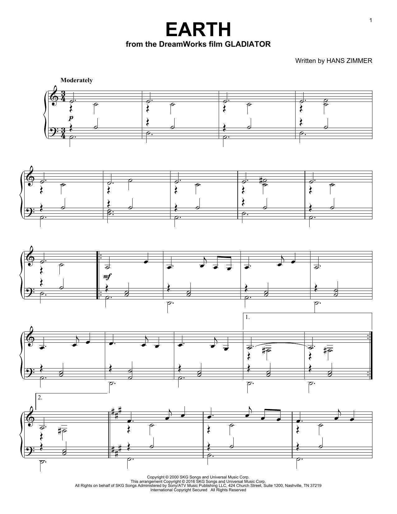 Earth (Piano Solo)