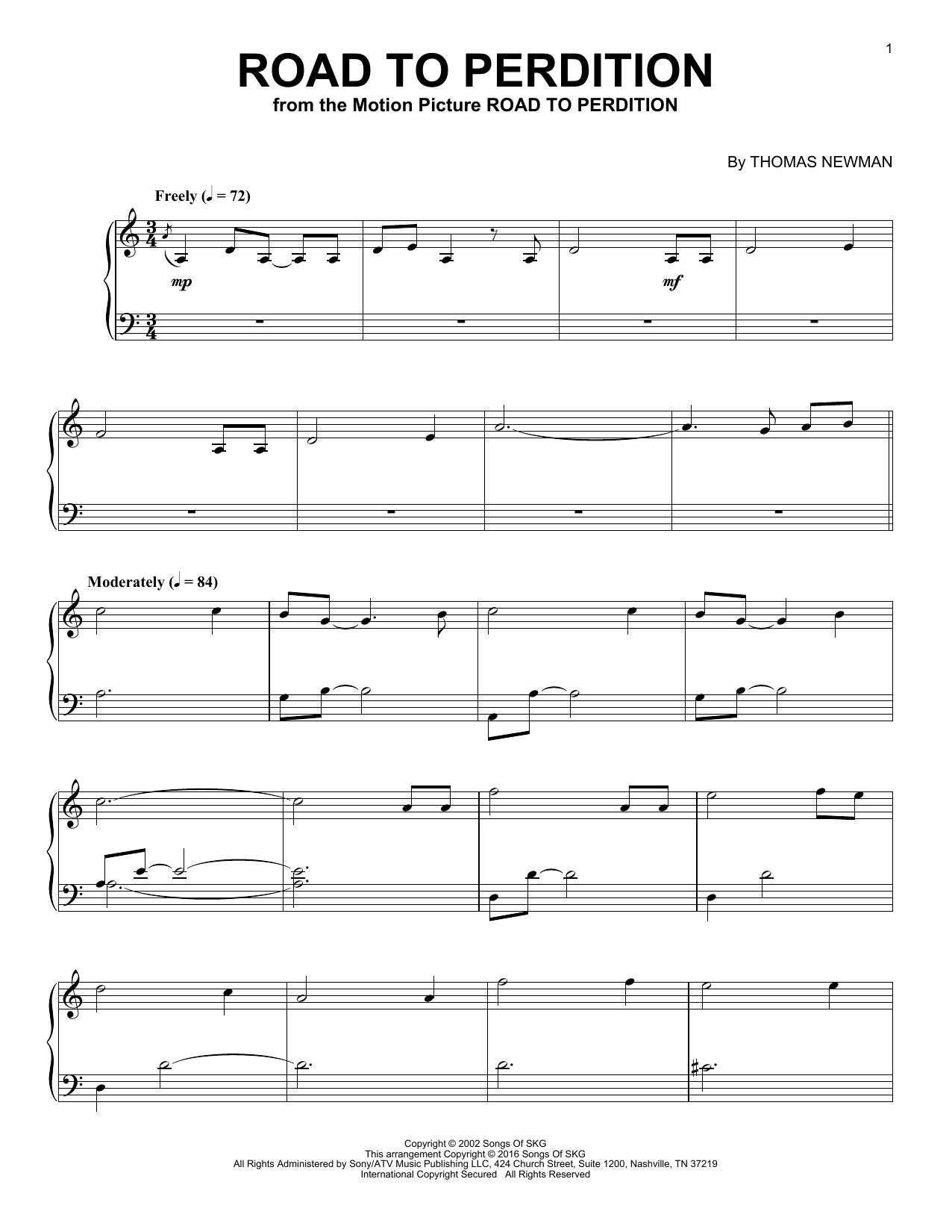 Road To Perdition (Piano Solo)