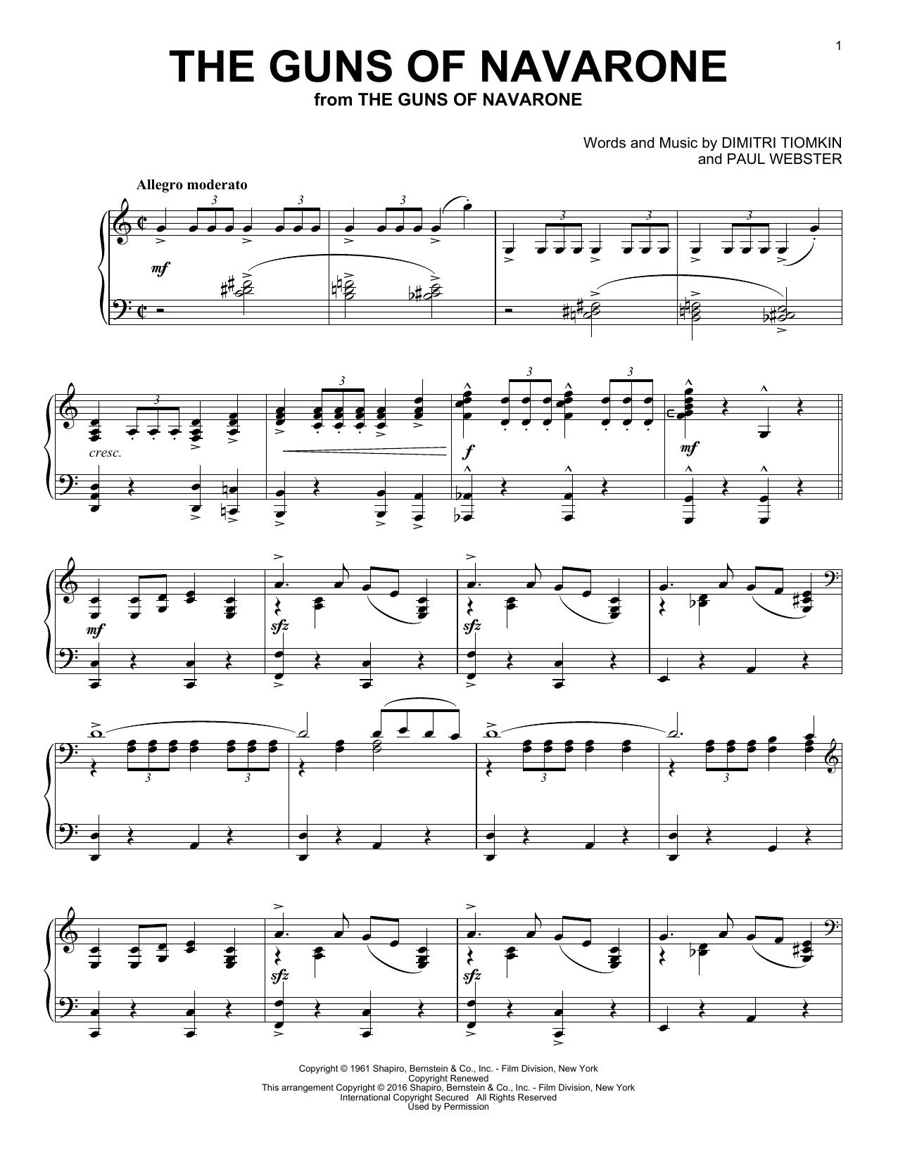 The Guns Of Navarone (Piano Solo)