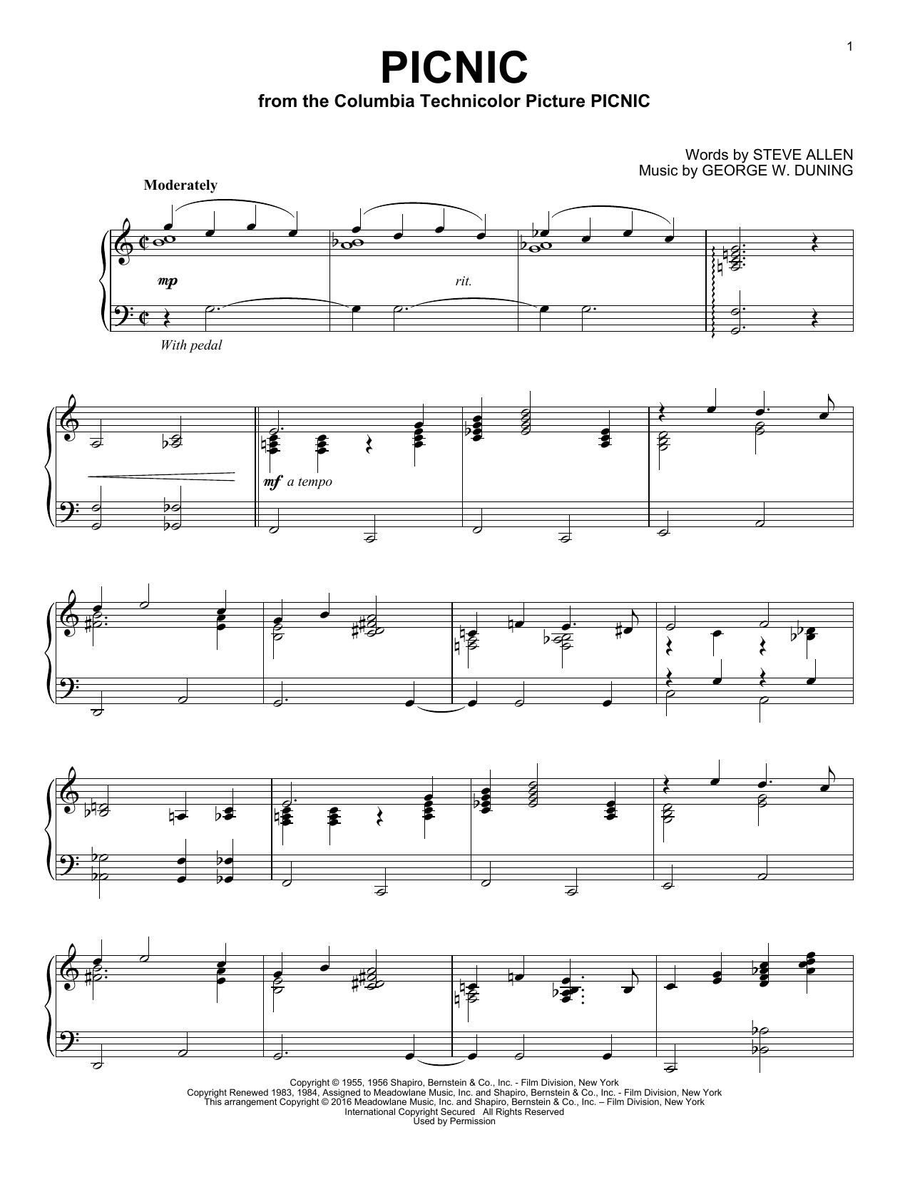 Picnic (Piano Solo)
