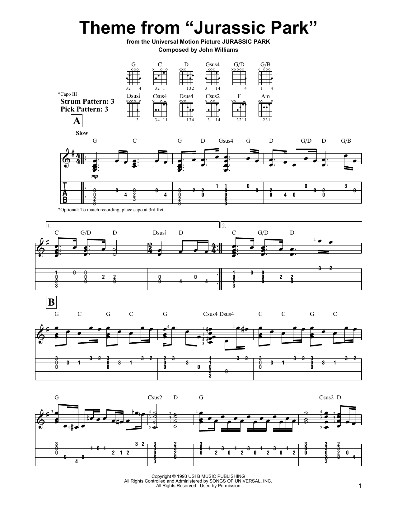 welcome to jurassic park piano sheet pdf