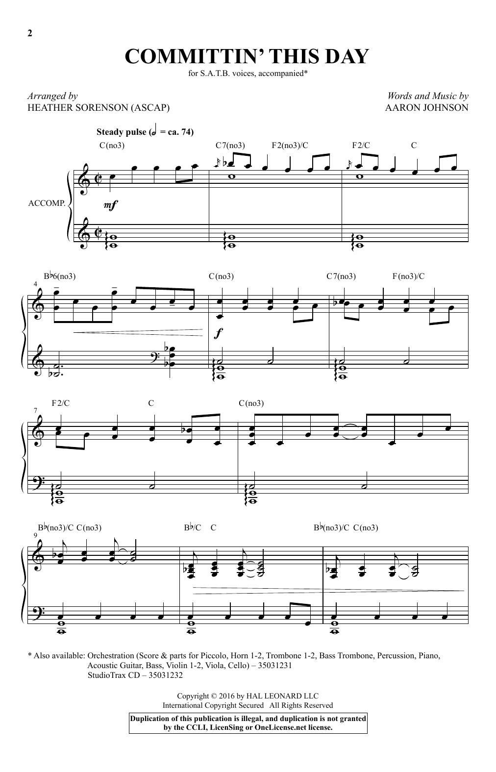 Committin' This Day (SATB Choir)