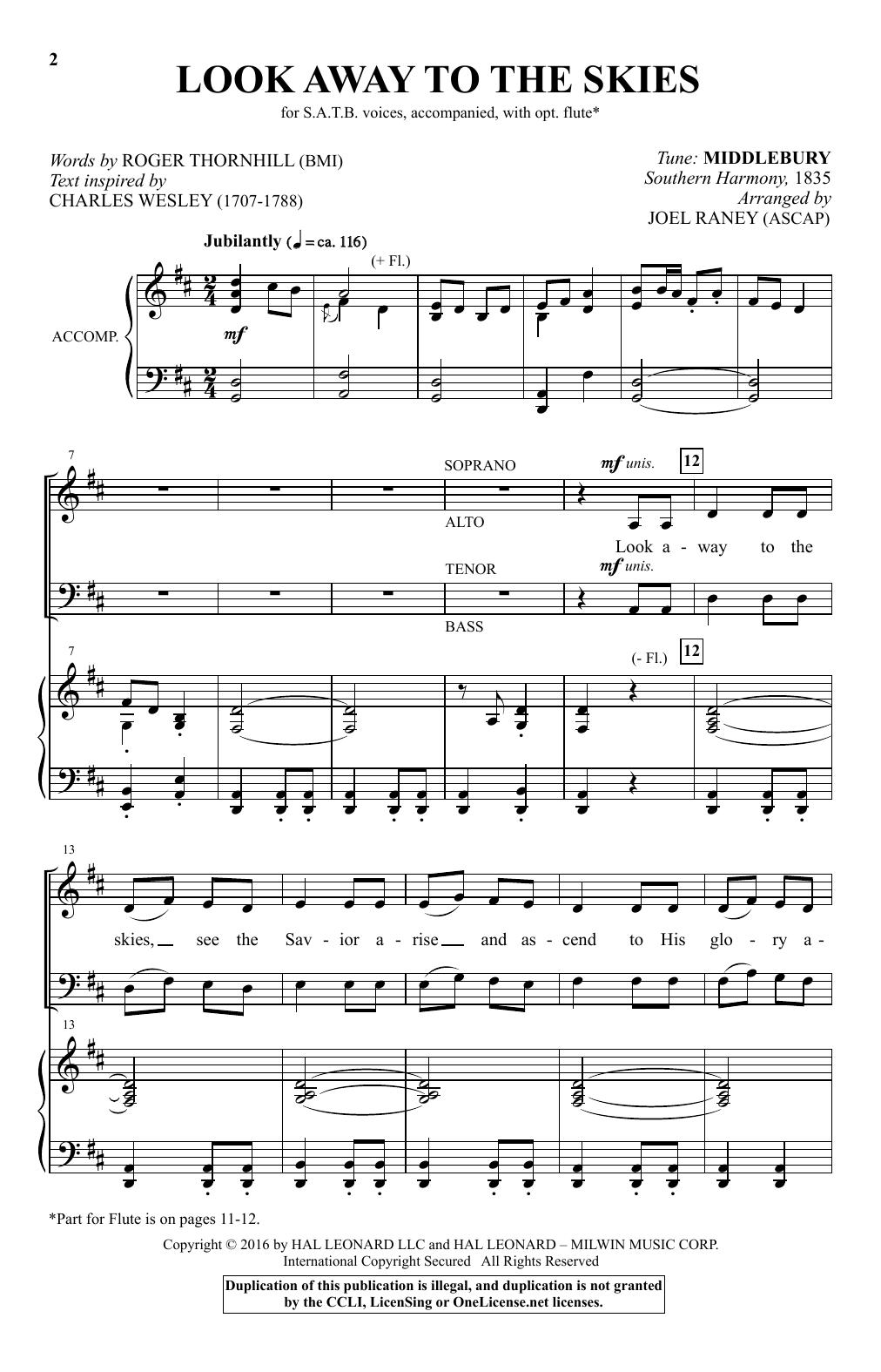 Look Away To The Skies (SATB Choir)