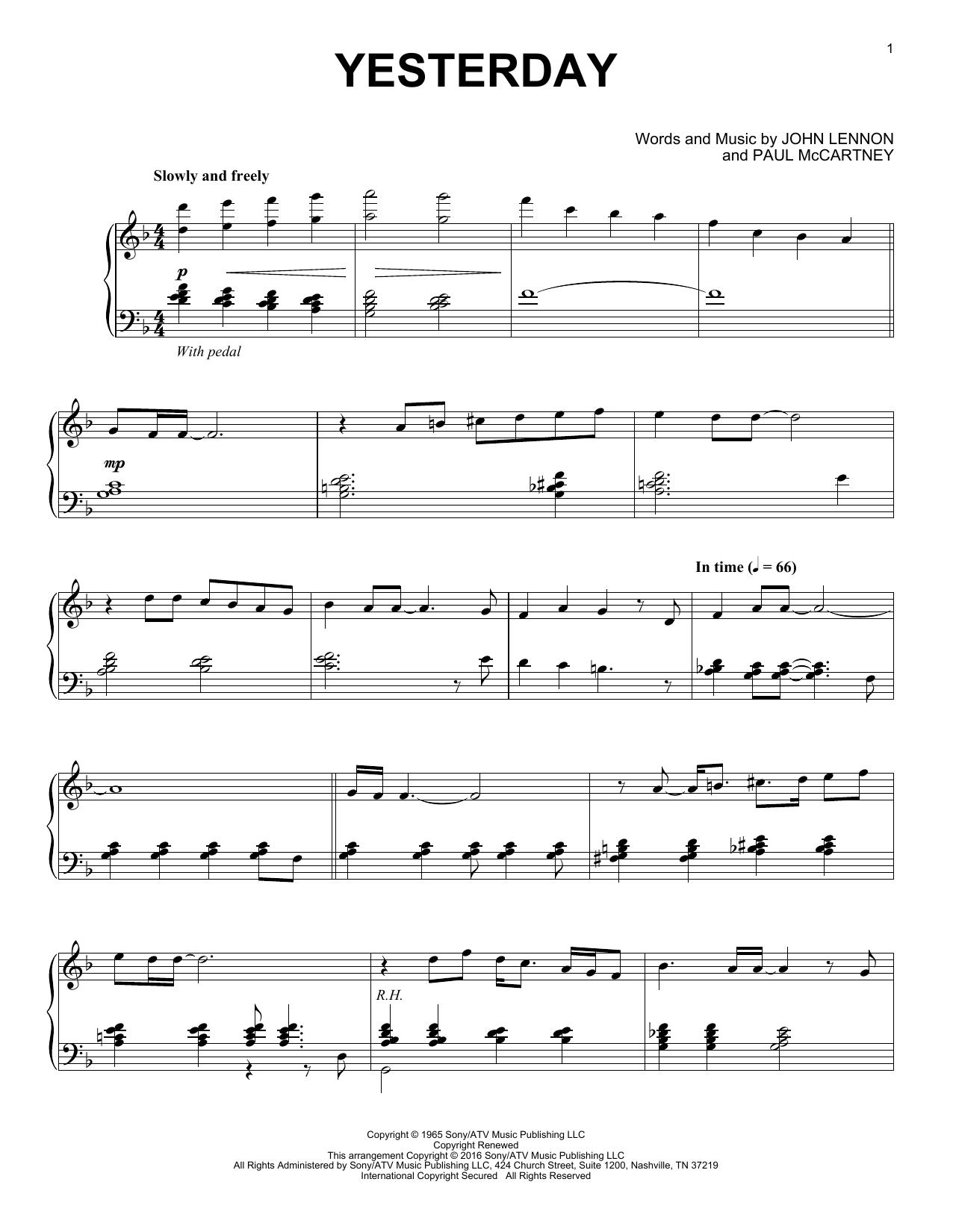 Yesterday [Jazz version] (Piano Solo)