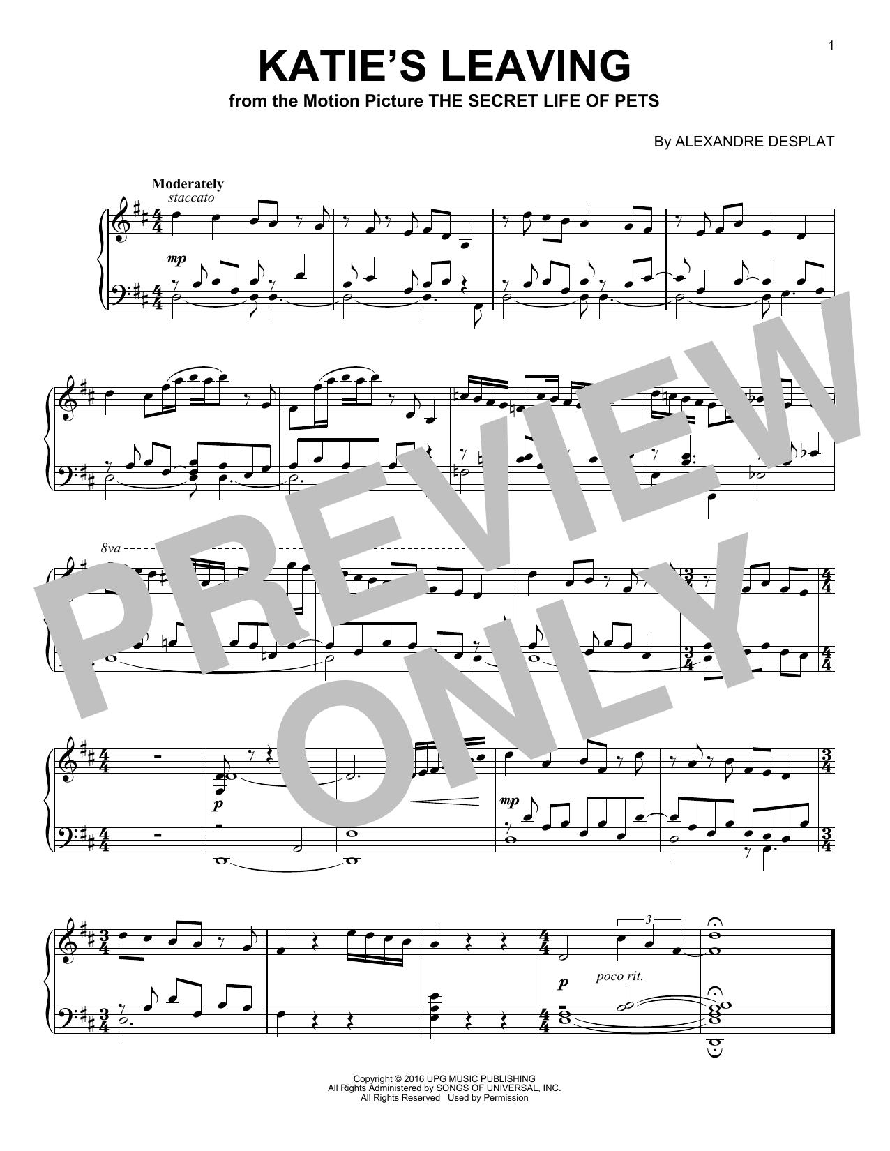 Katie's Leaving (Piano Solo)