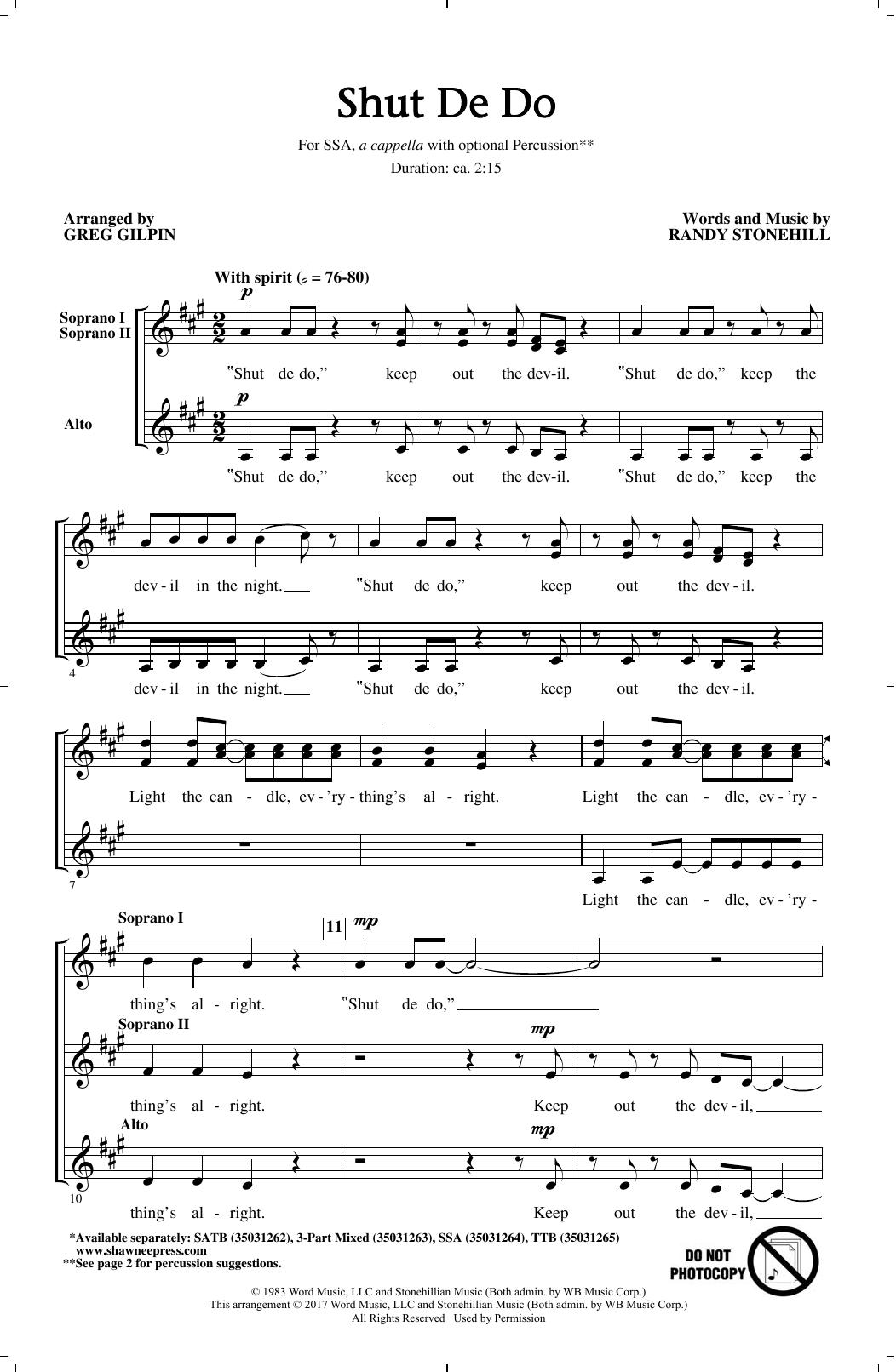 Shut de Do (arr. Greg Gilpin) (SSA Choir)