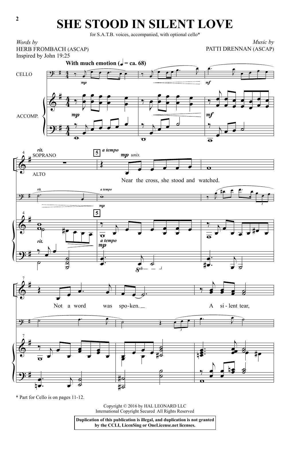 She Stood In Silent Love (SATB Choir)