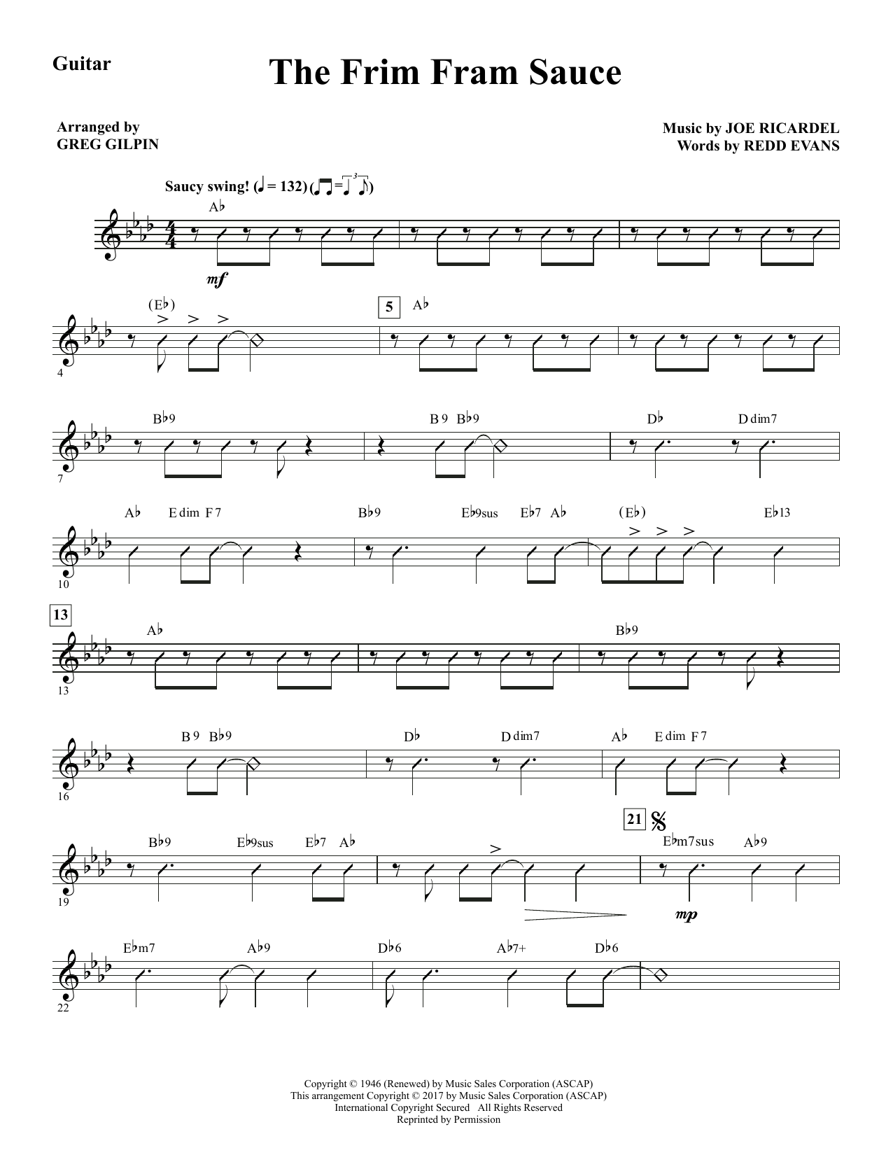 The Frim Fram Sauce - Guitar Sheet Music