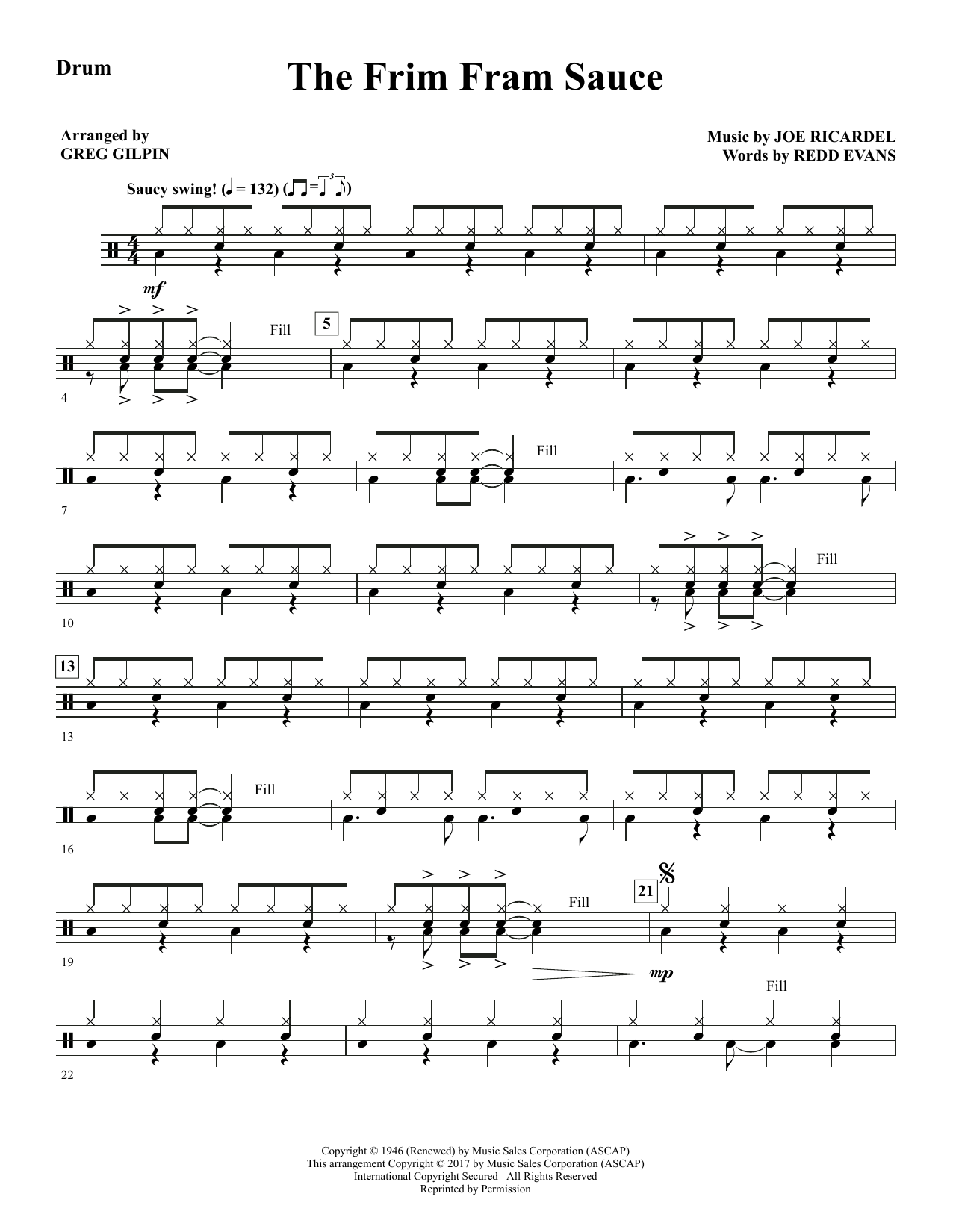 The Frim Fram Sauce - Drums (Choir Instrumental Pak)