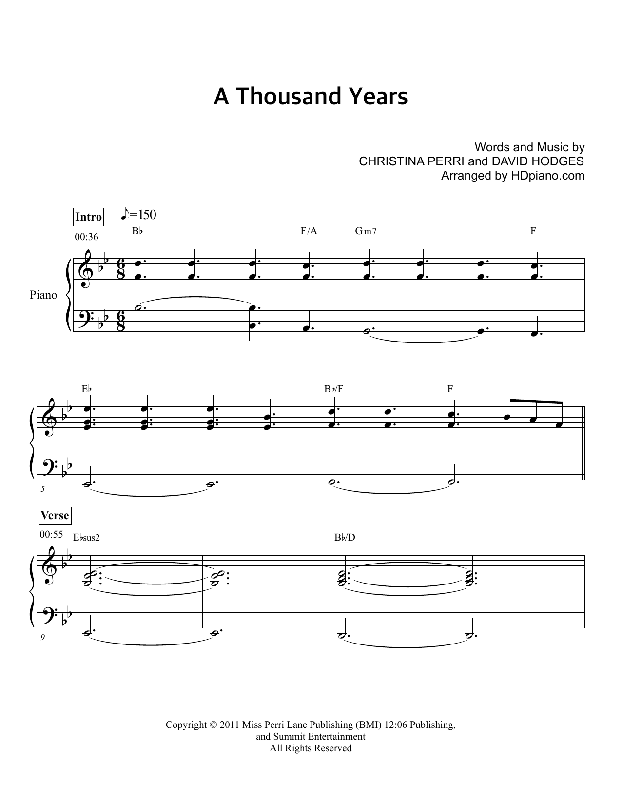 A thousand years sheet music direct a thousand years hexwebz Image collections