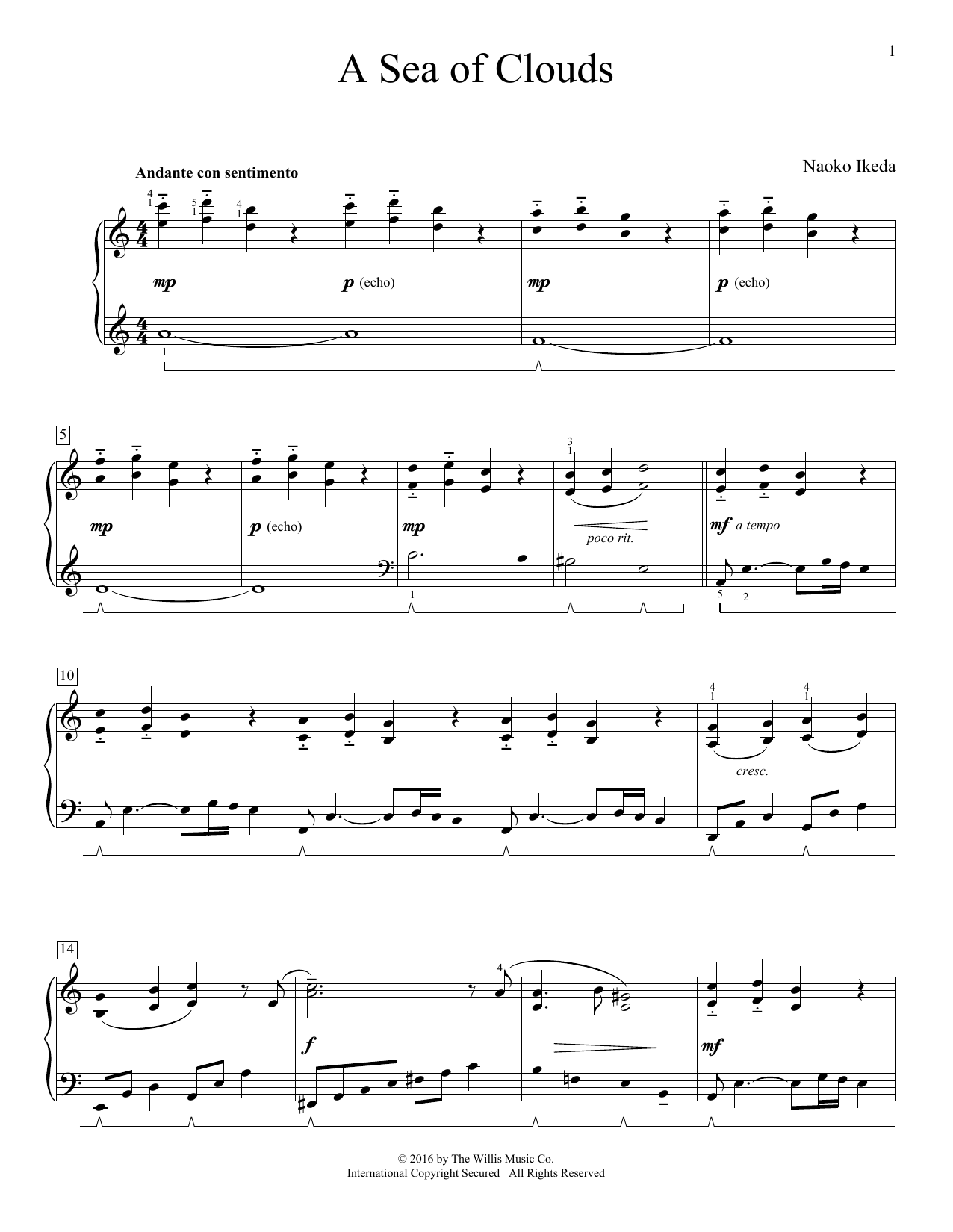 A Sea Of Clouds (Educational Piano)