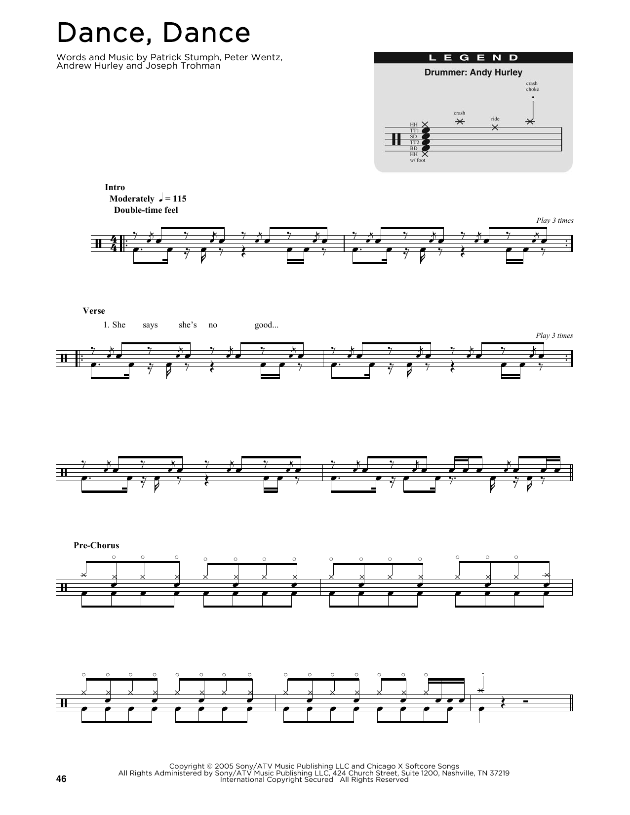 Dance, Dance (Drums Transcription)