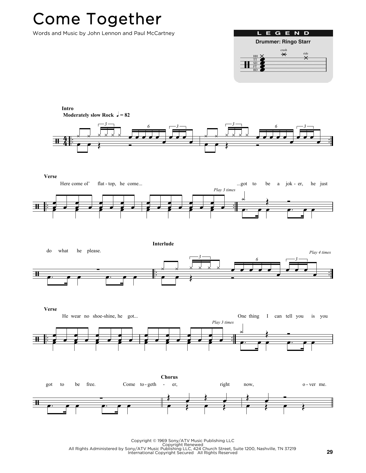 Come Together (Drum Chart)