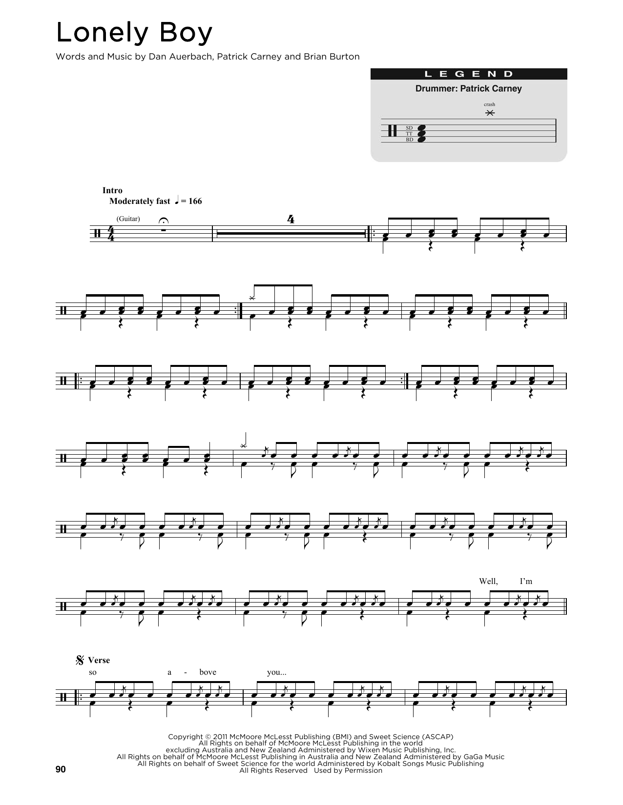 Lonely Boy (Drum Chart)