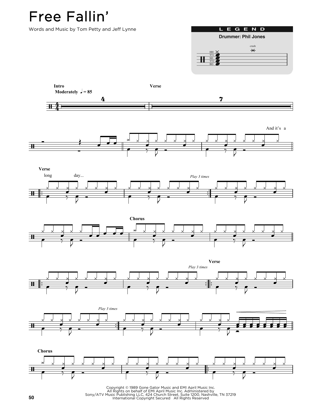 Free Fallin' (Drums Transcription)
