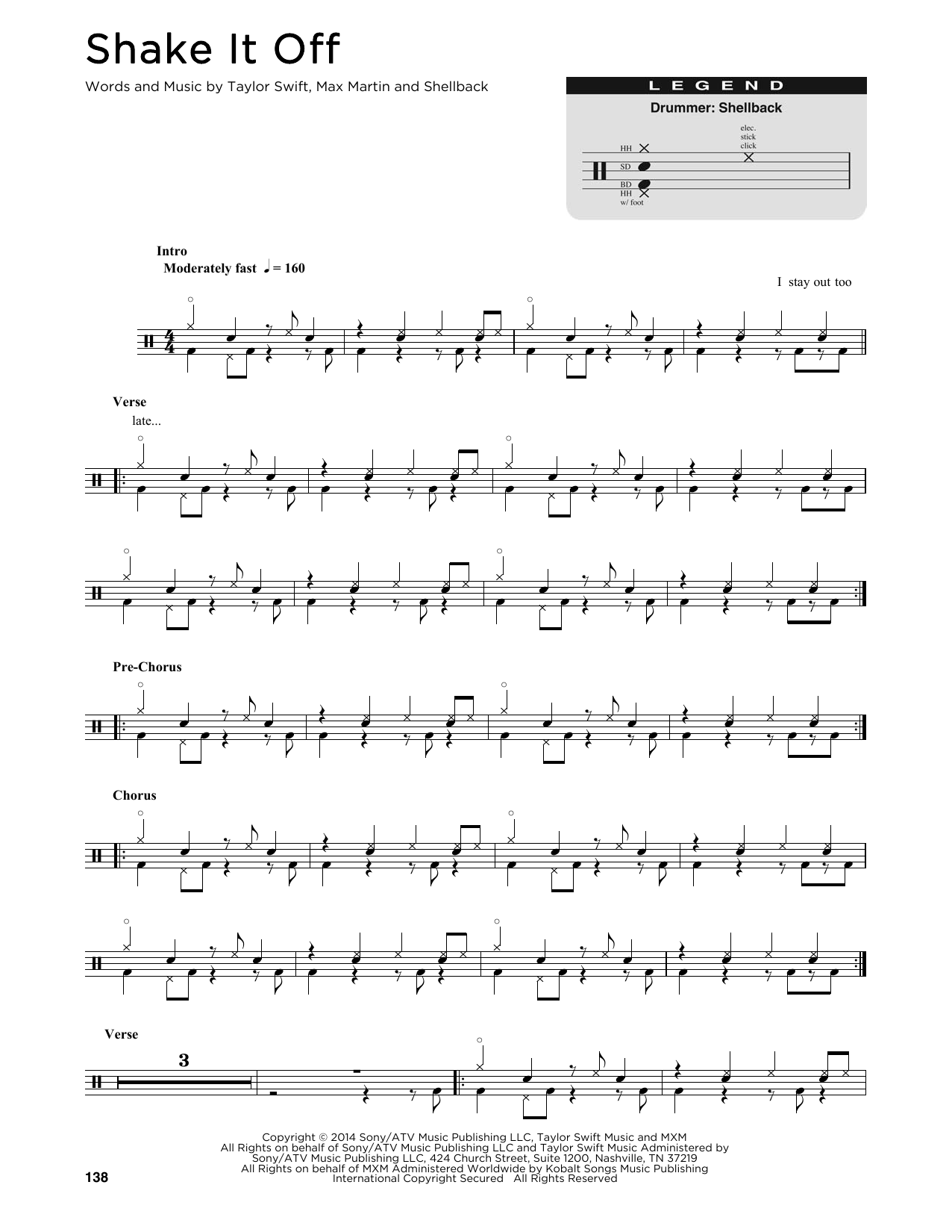 Shake It Off (Drum Chart)