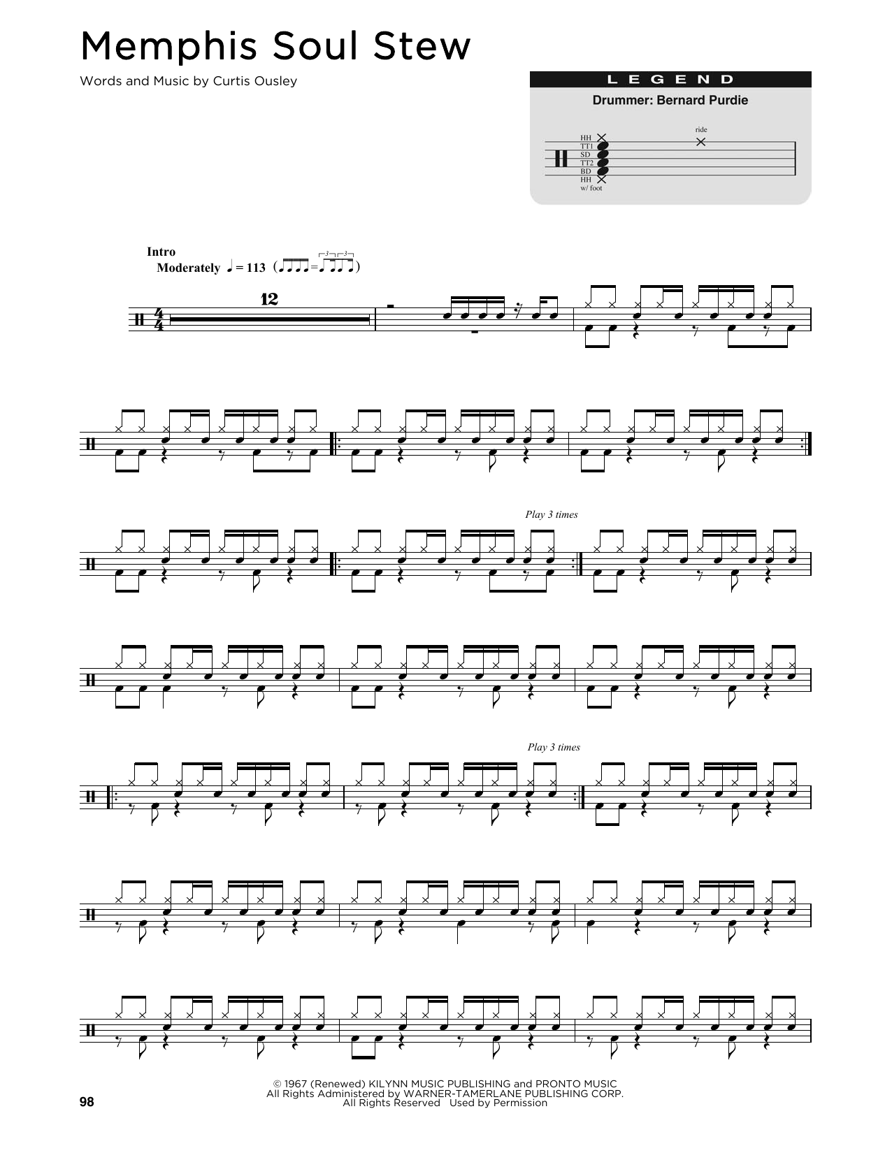 Memphis Soul Stew (Drum Chart)