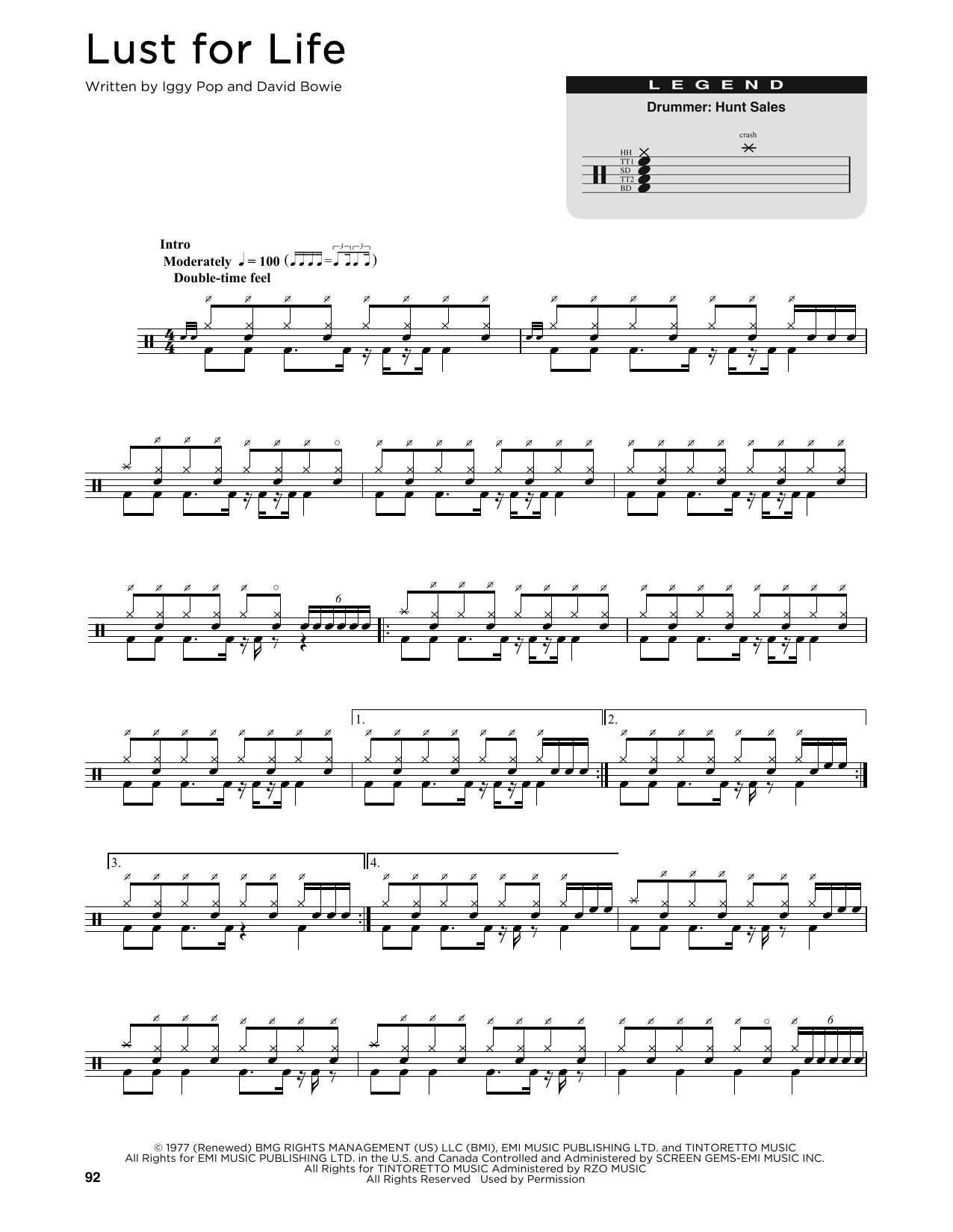 Lust For Life (Drums Transcription)