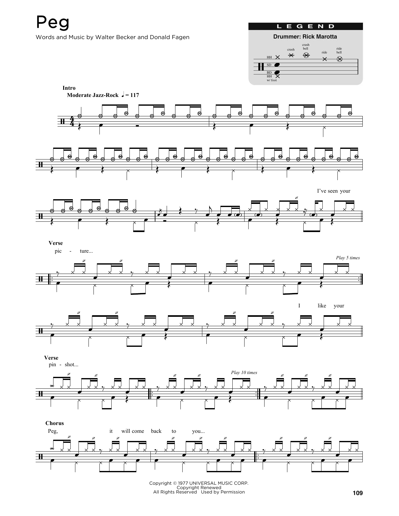 Peg (Drums Transcription)