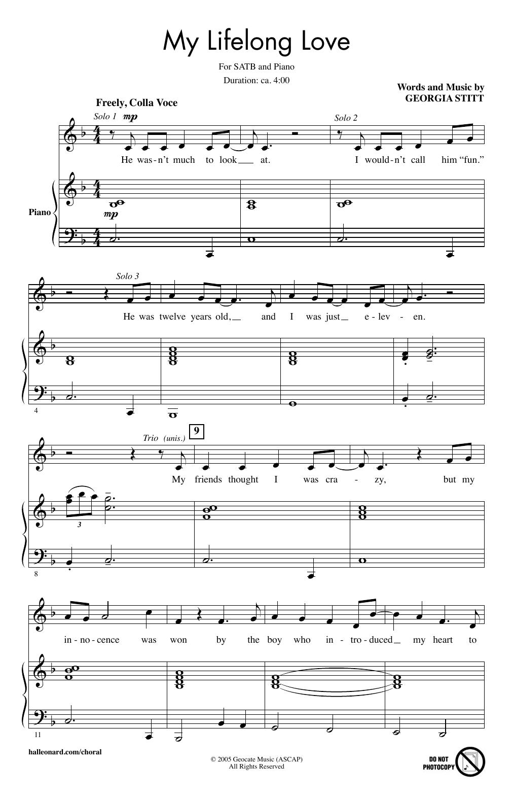 My Lifelong Love (SATB Choir)