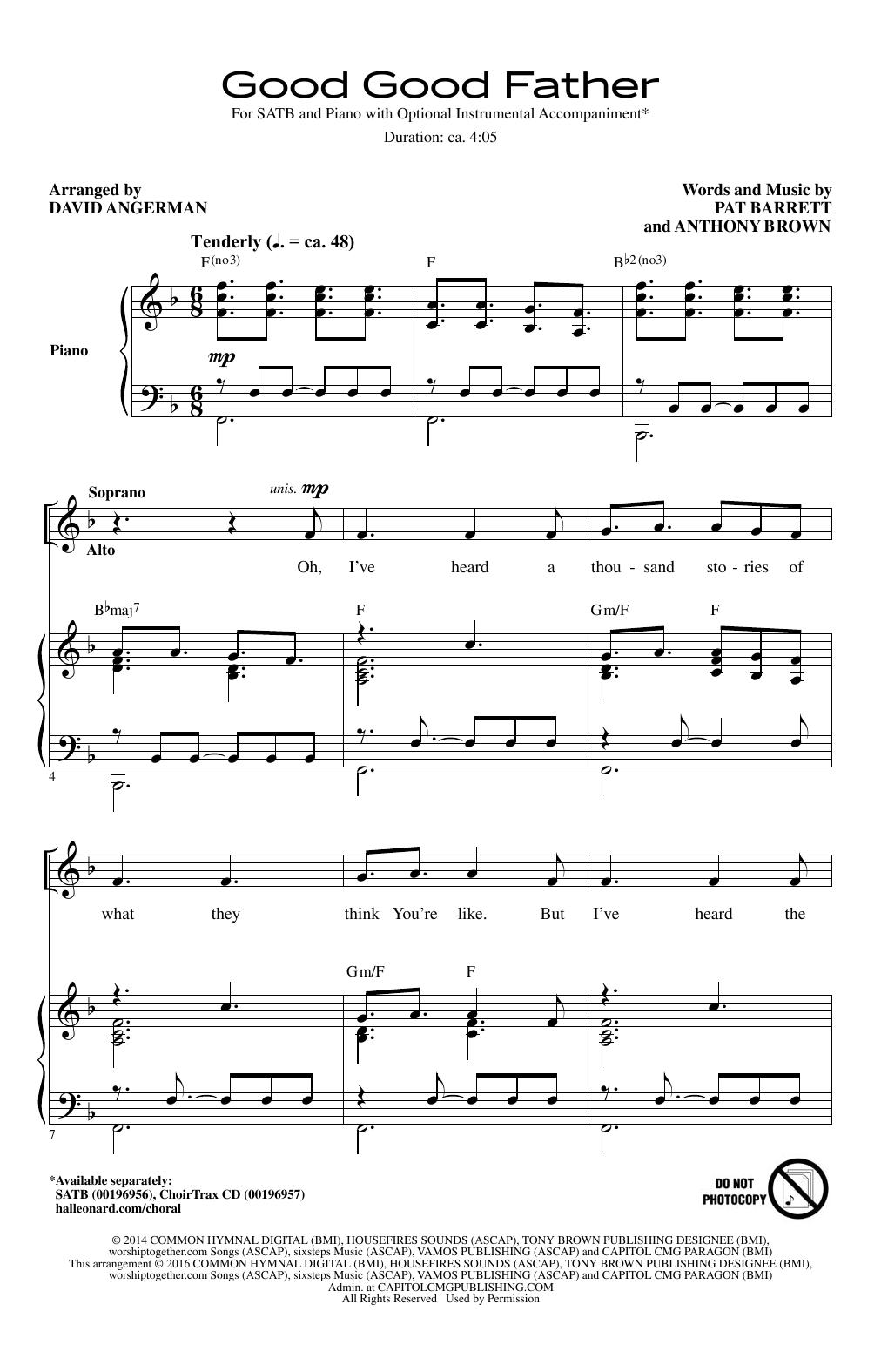 Good Good Father (arr. David Angerman) (SATB Choir)